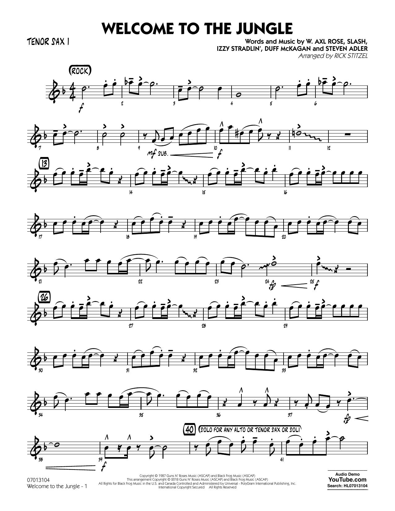 Welcome to the Jungle - Tenor Sax 1 (Jazz Ensemble)