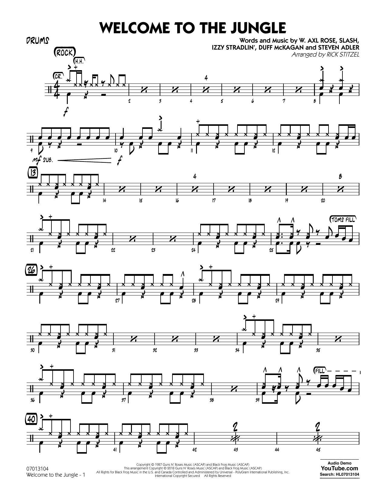 Welcome to the Jungle - Drums (Jazz Ensemble)