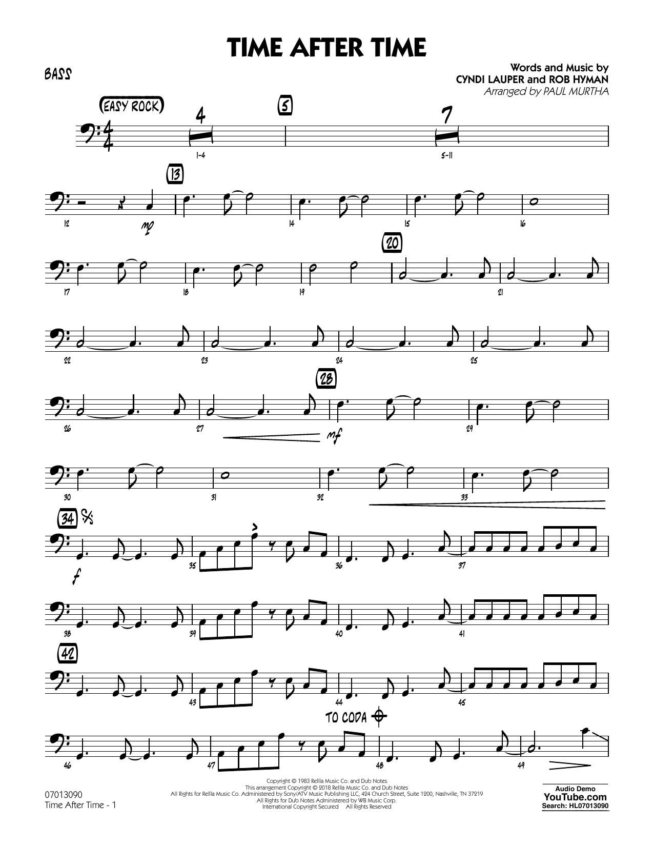 Time After Time - Bass (Jazz Ensemble)