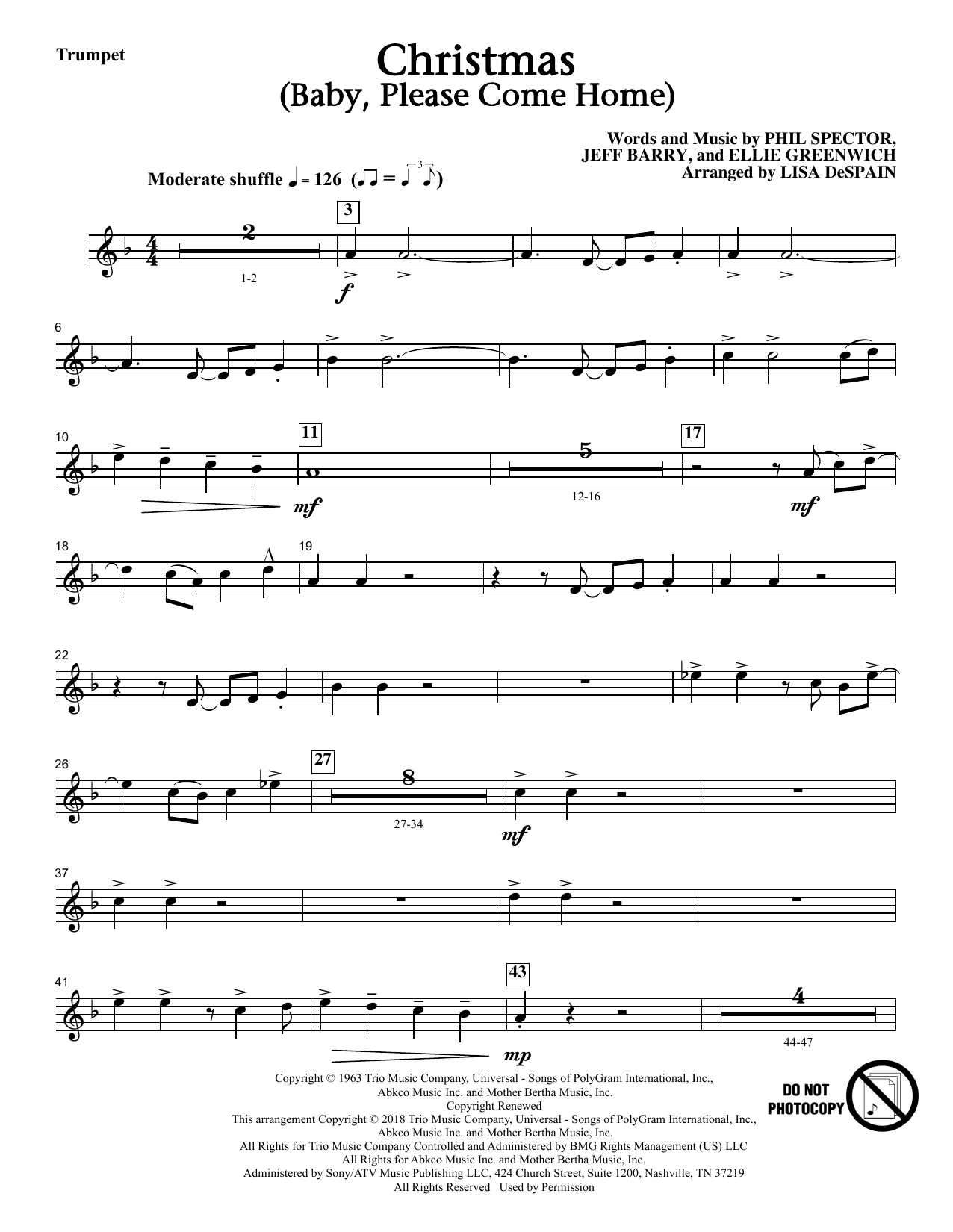 Christmas (Baby, Please Come Home) - Trumpet (Choir Instrumental Pak)