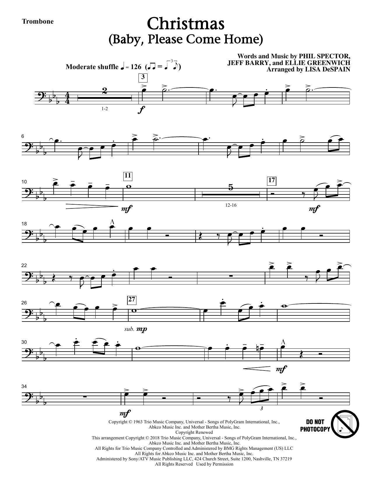 Christmas (Baby, Please Come Home) - Trombone (Choir Instrumental Pak)