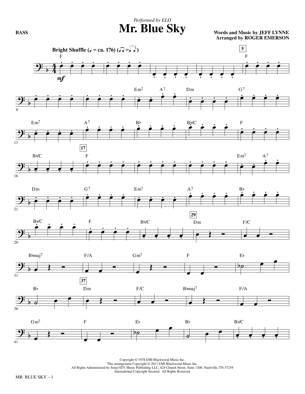Sheet Music Digital Files To Print - Licensed Electric Light