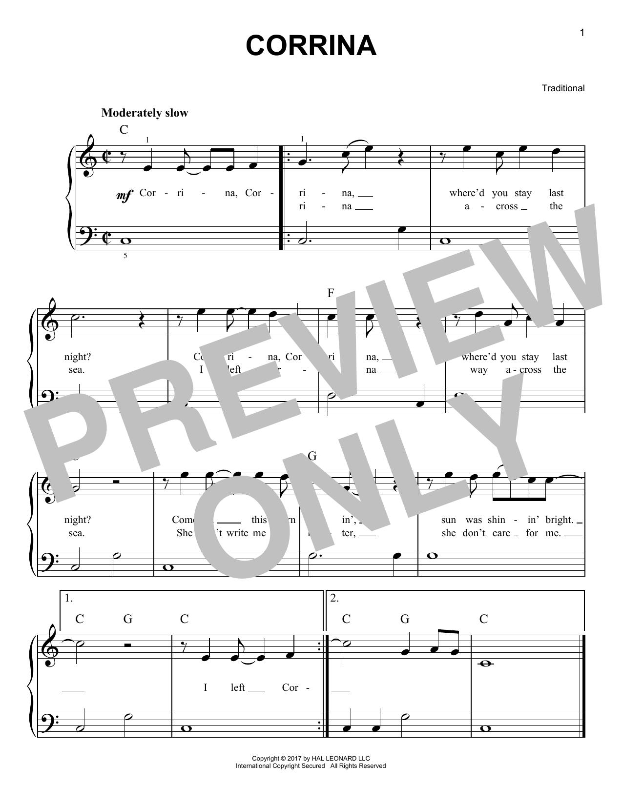 Corrina (Very Easy Piano)