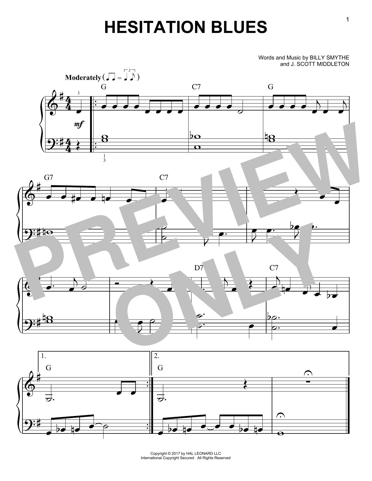 Hesitation Blues (Very Easy Piano)