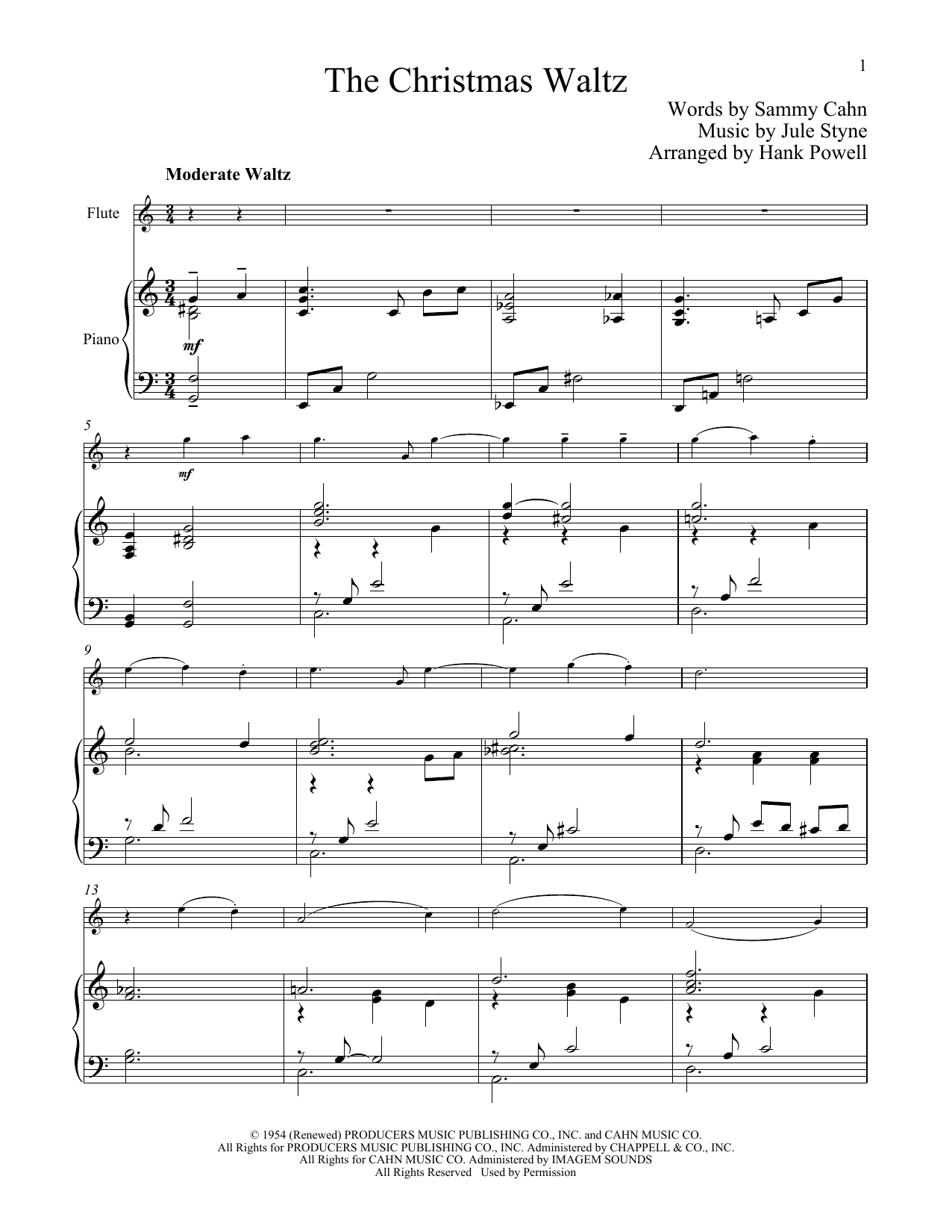 The Christmas Waltz (Flute and Piano)
