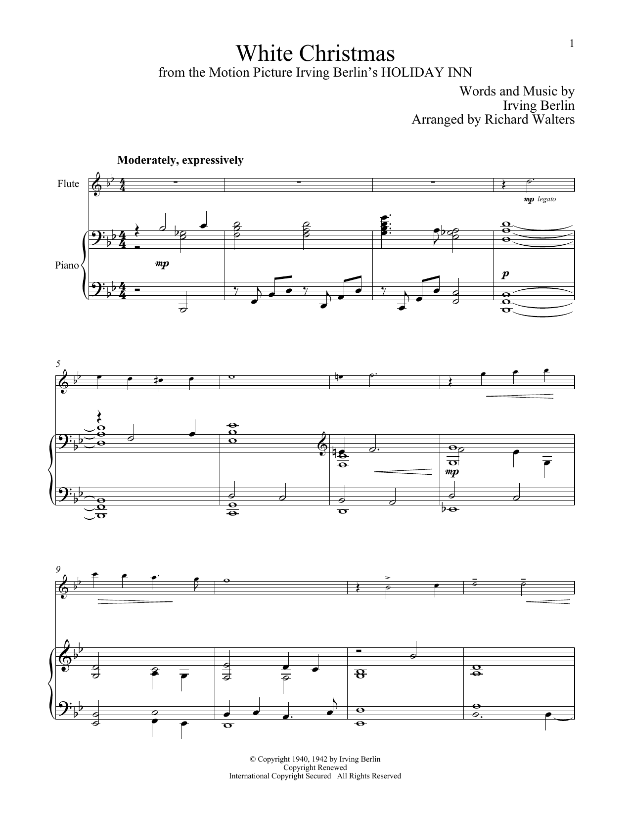 White Christmas (Flute and Piano)