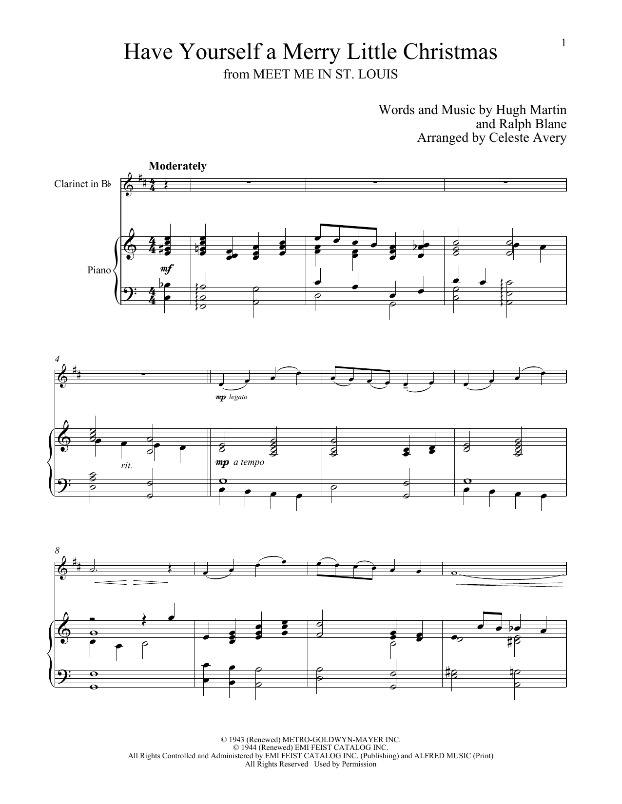 Have Yourself A Merry Little Christmas Piano Music.Sheet Music Digital Files To Print Licensed Ralph Blane