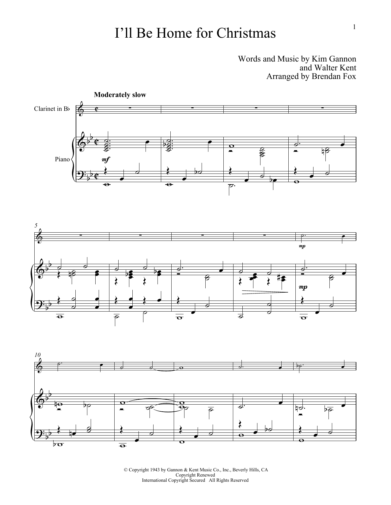 I\'ll Be Home For Christmas - Print Sheet Music Now