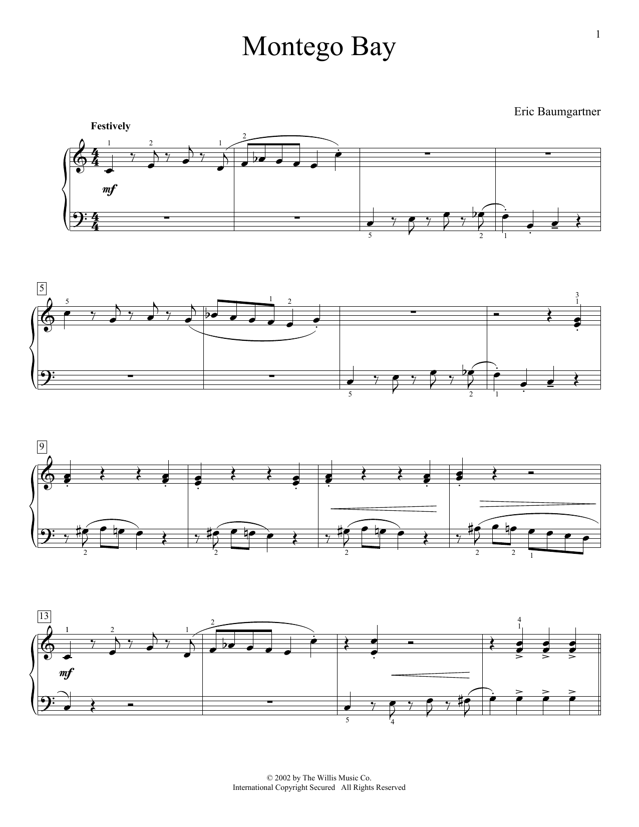 Montego Bay Sheet Music