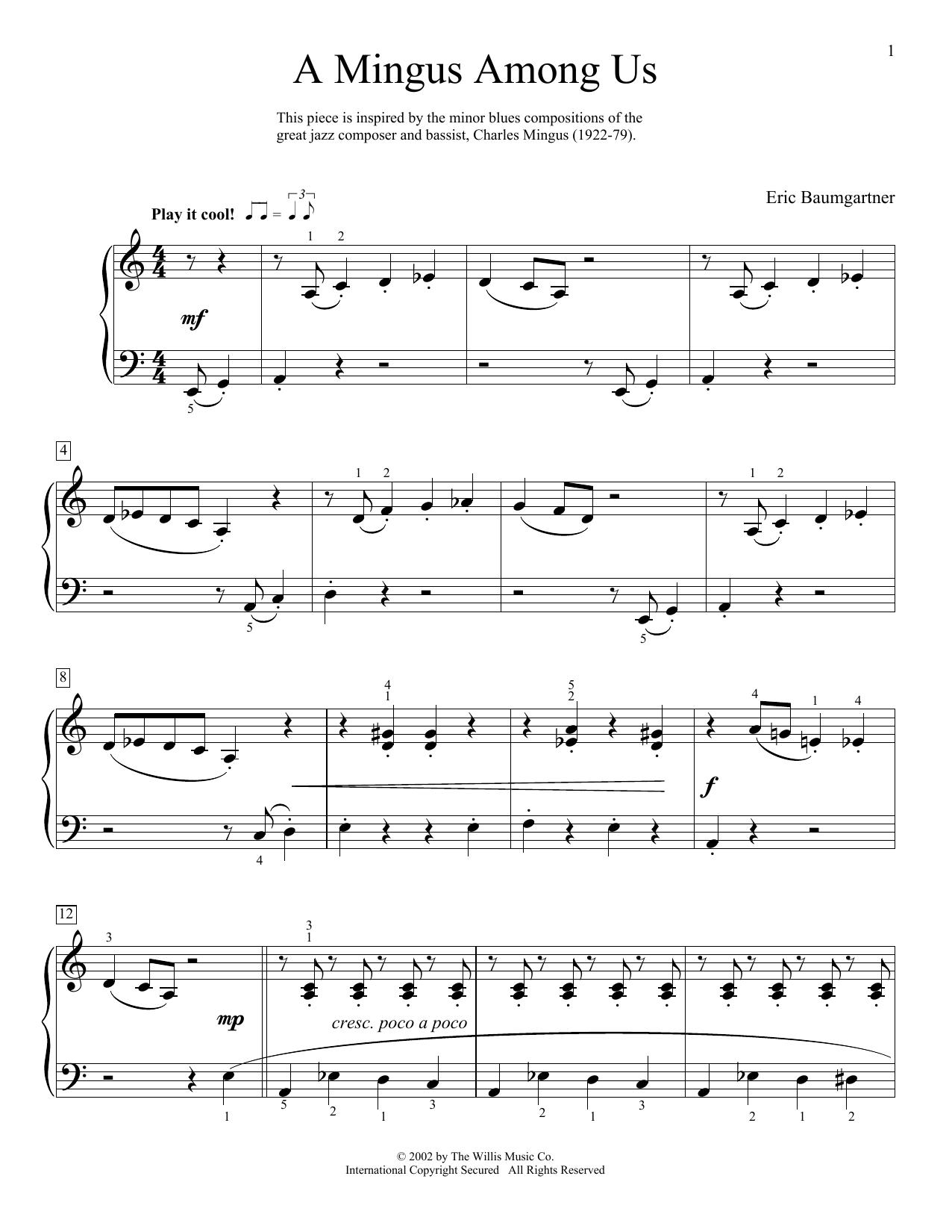 A Mingus Among Us Sheet Music
