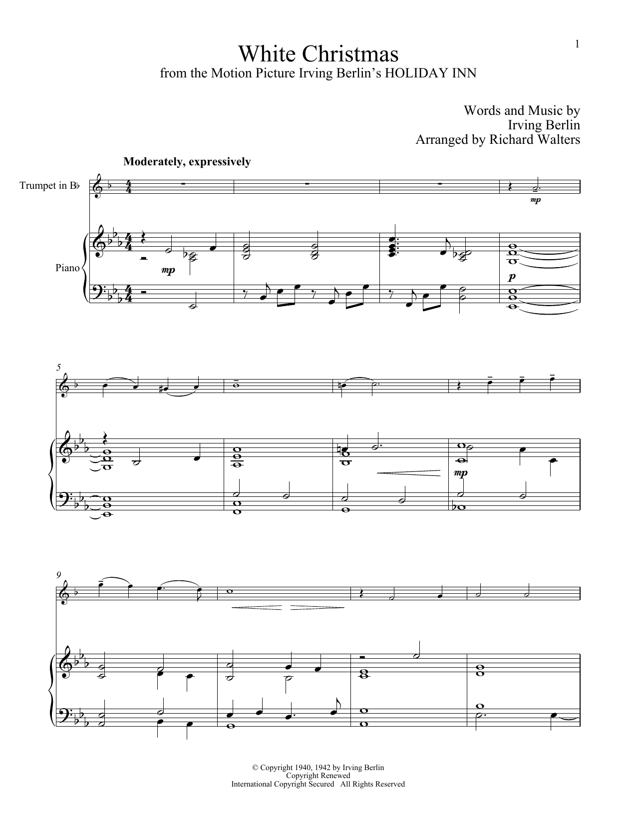 White Christmas (Trumpet and Piano)
