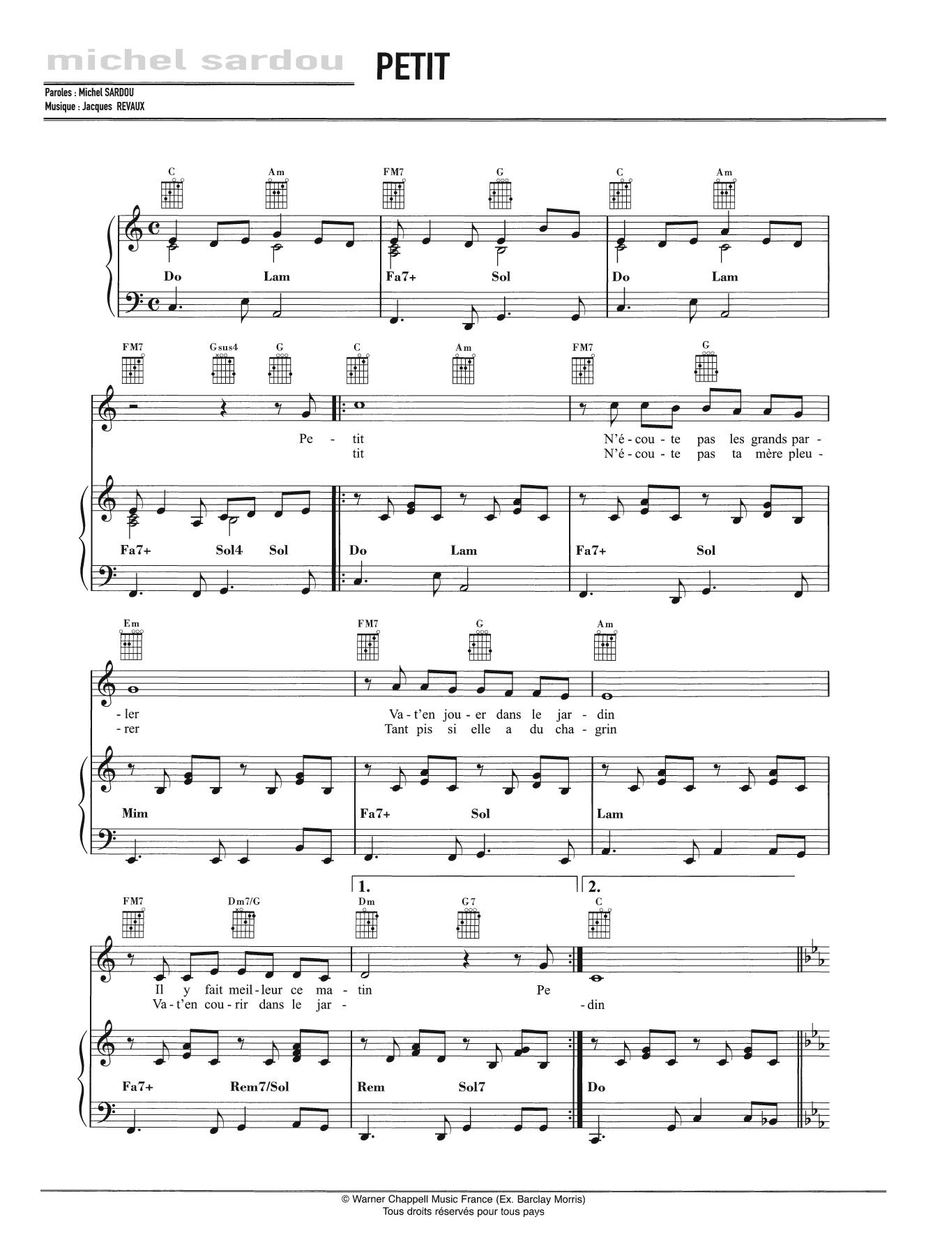 Petit Sheet Music