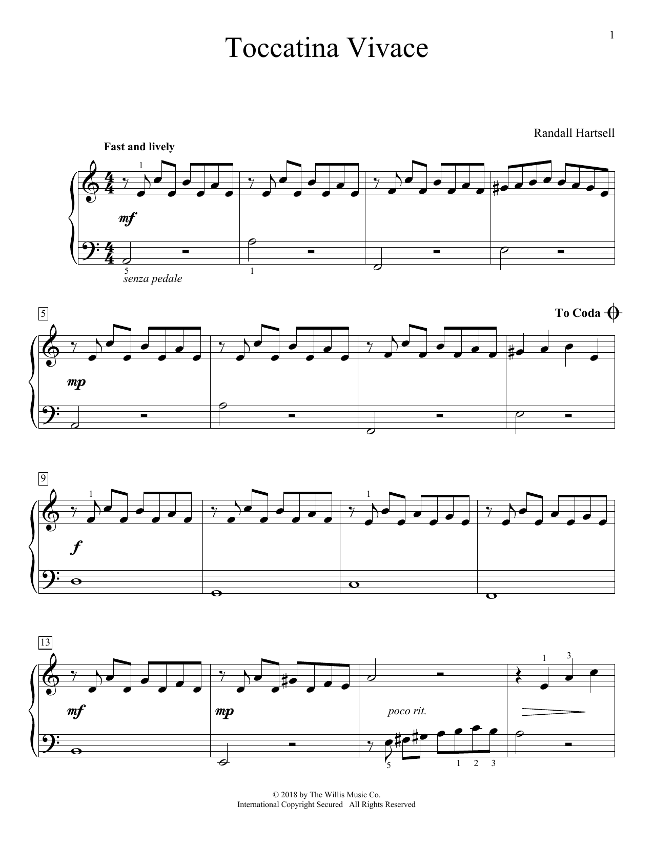 Toccatina Vivace Sheet Music