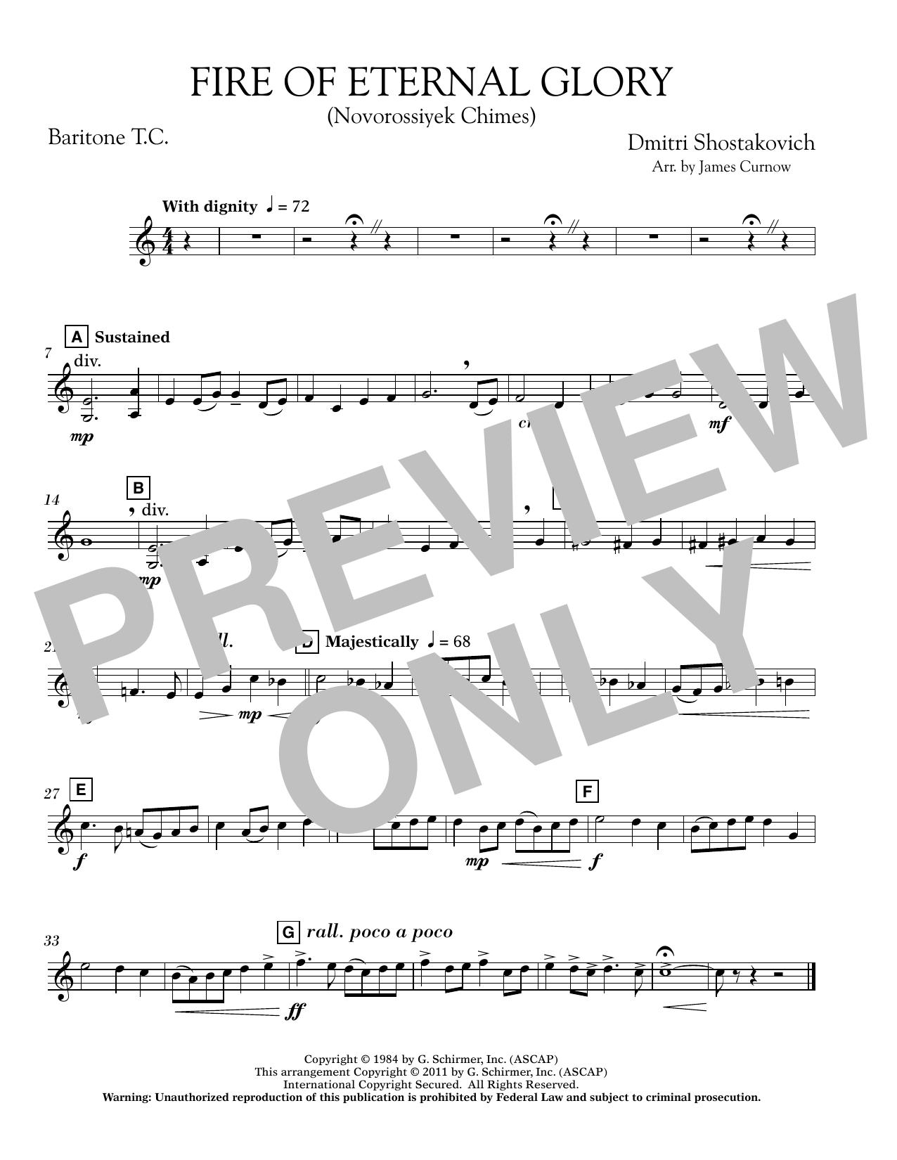 Fire of Eternal Glory (Novorossiyek Chimes) - Baritone T.C. (Concert Band)