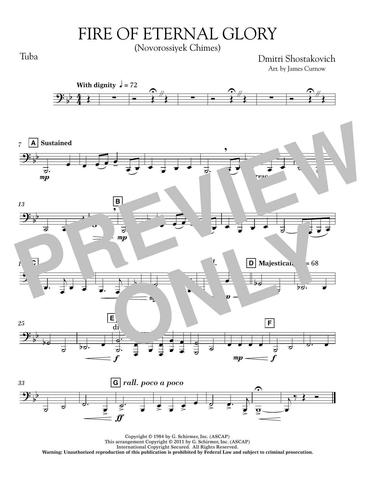 Fire of Eternal Glory (Novorossiyek Chimes) - Tuba (Concert Band)