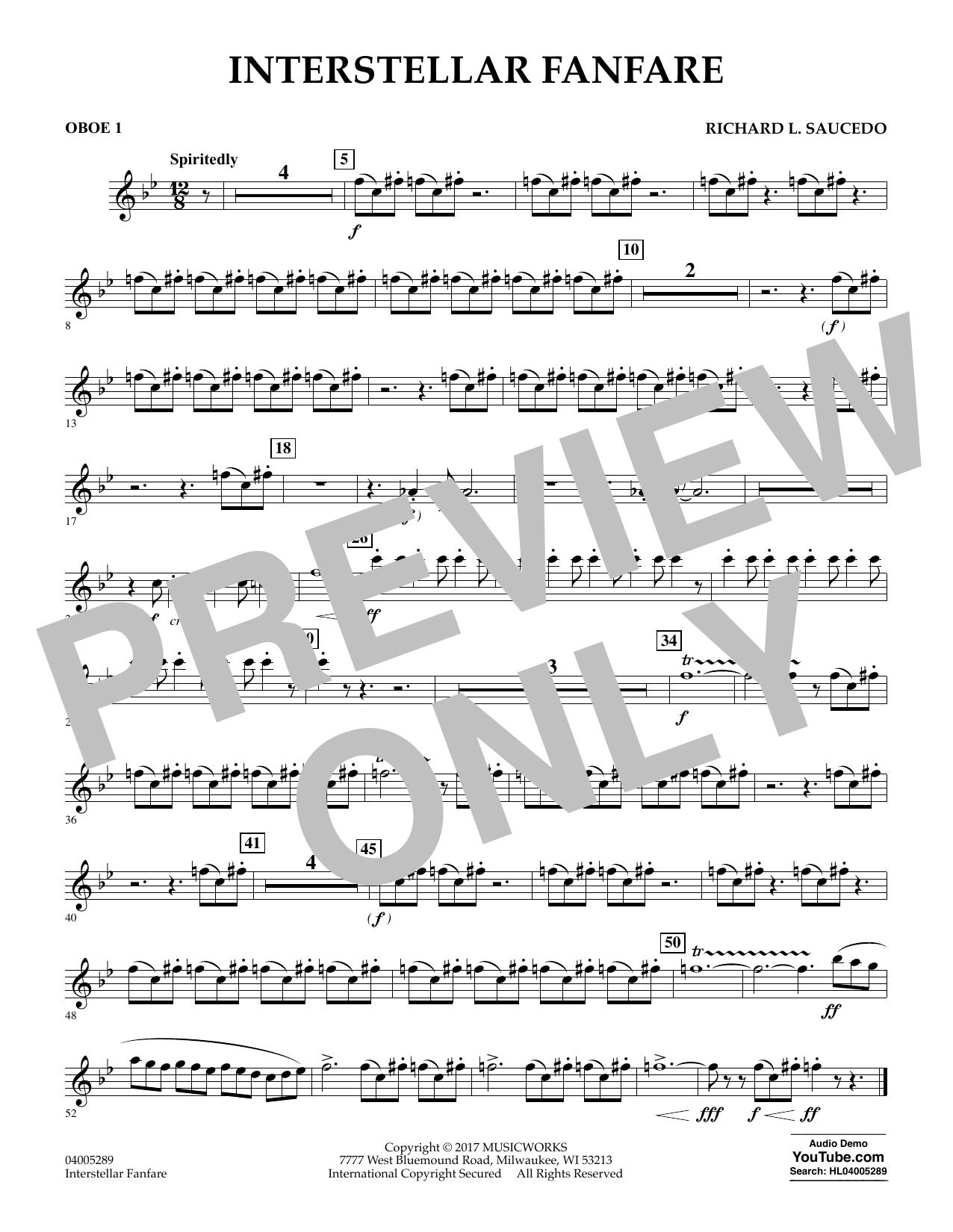Interstellar Fanfare - Oboe 1 (Concert Band)