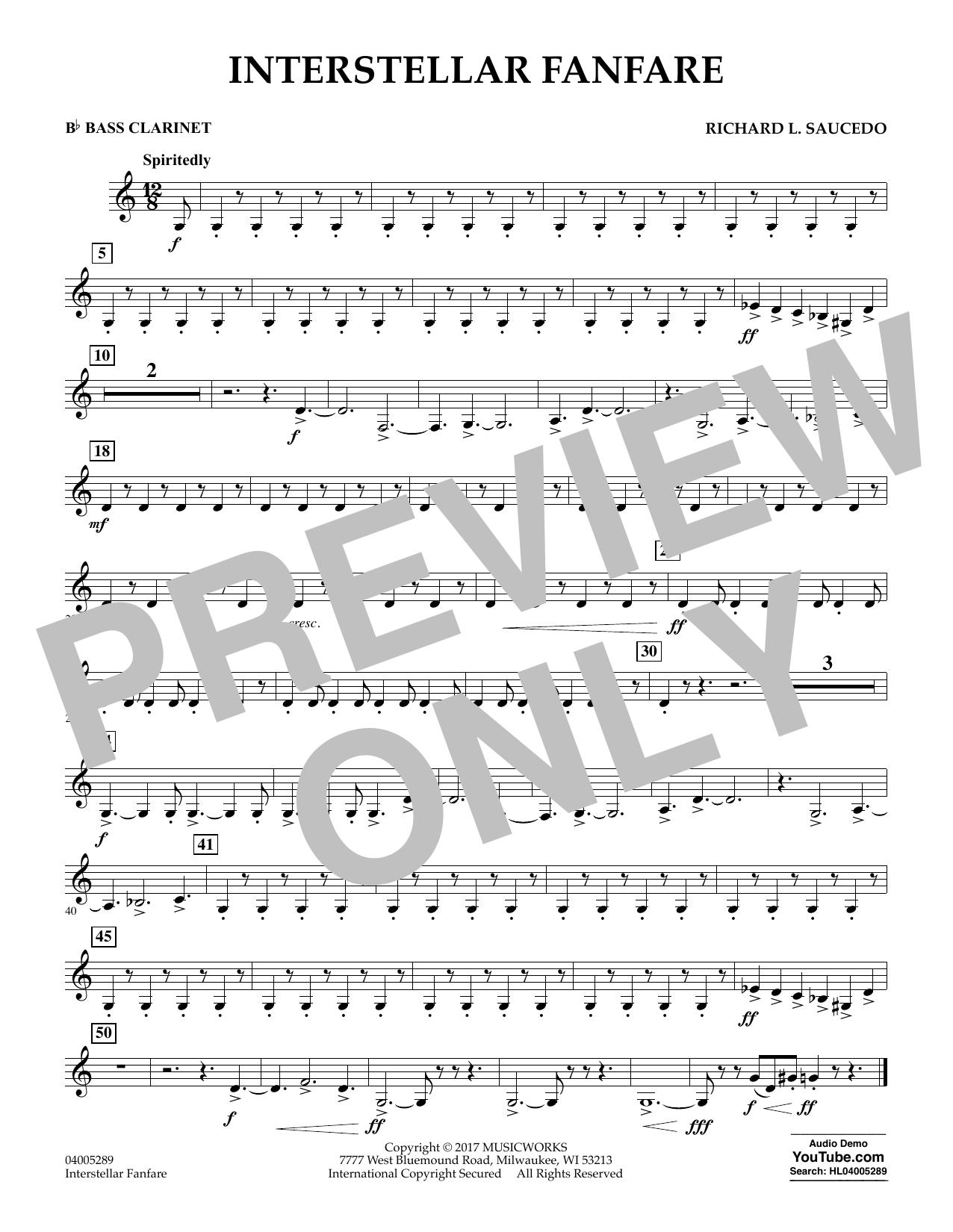Interstellar Fanfare - Bb Bass Clarinet (Concert Band)
