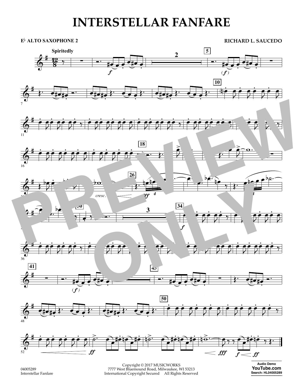 Interstellar Fanfare - Eb Alto Saxophone 2 (Concert Band)