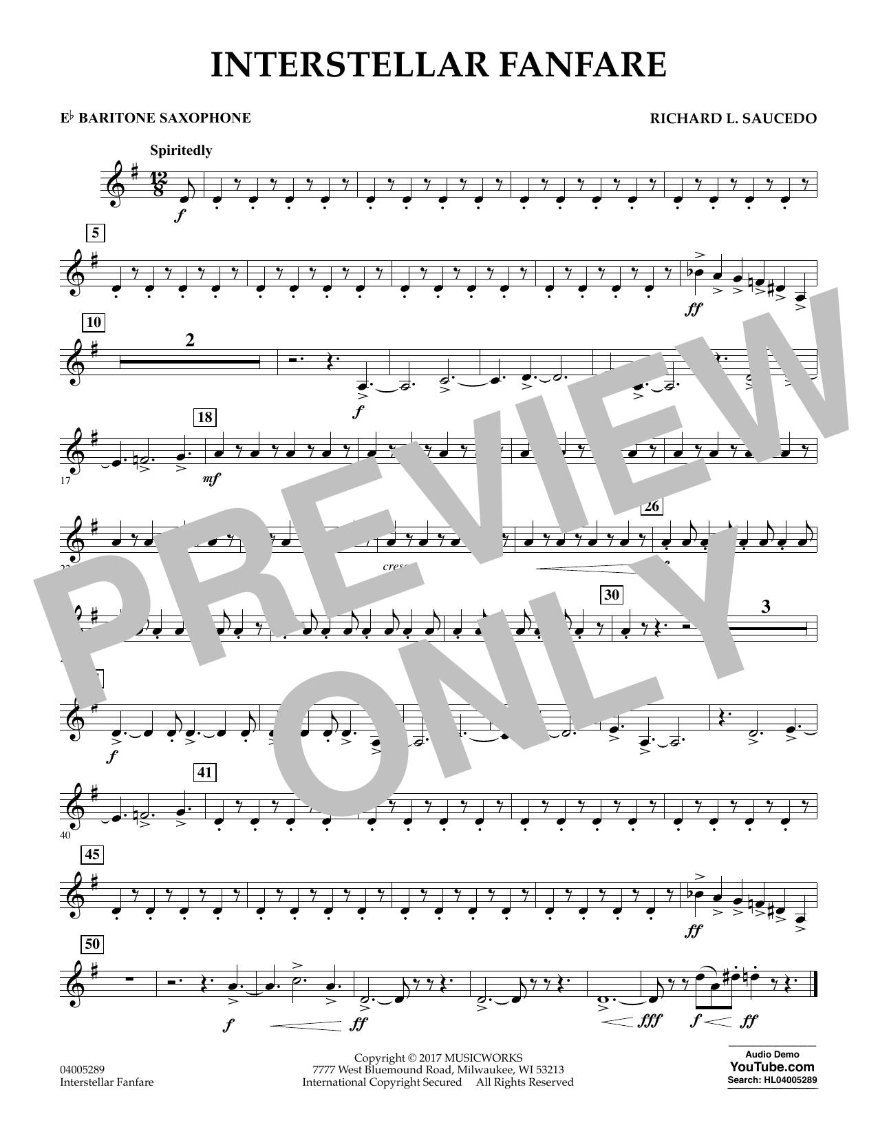 Interstellar Fanfare - Eb Baritone Saxophone (Concert Band)