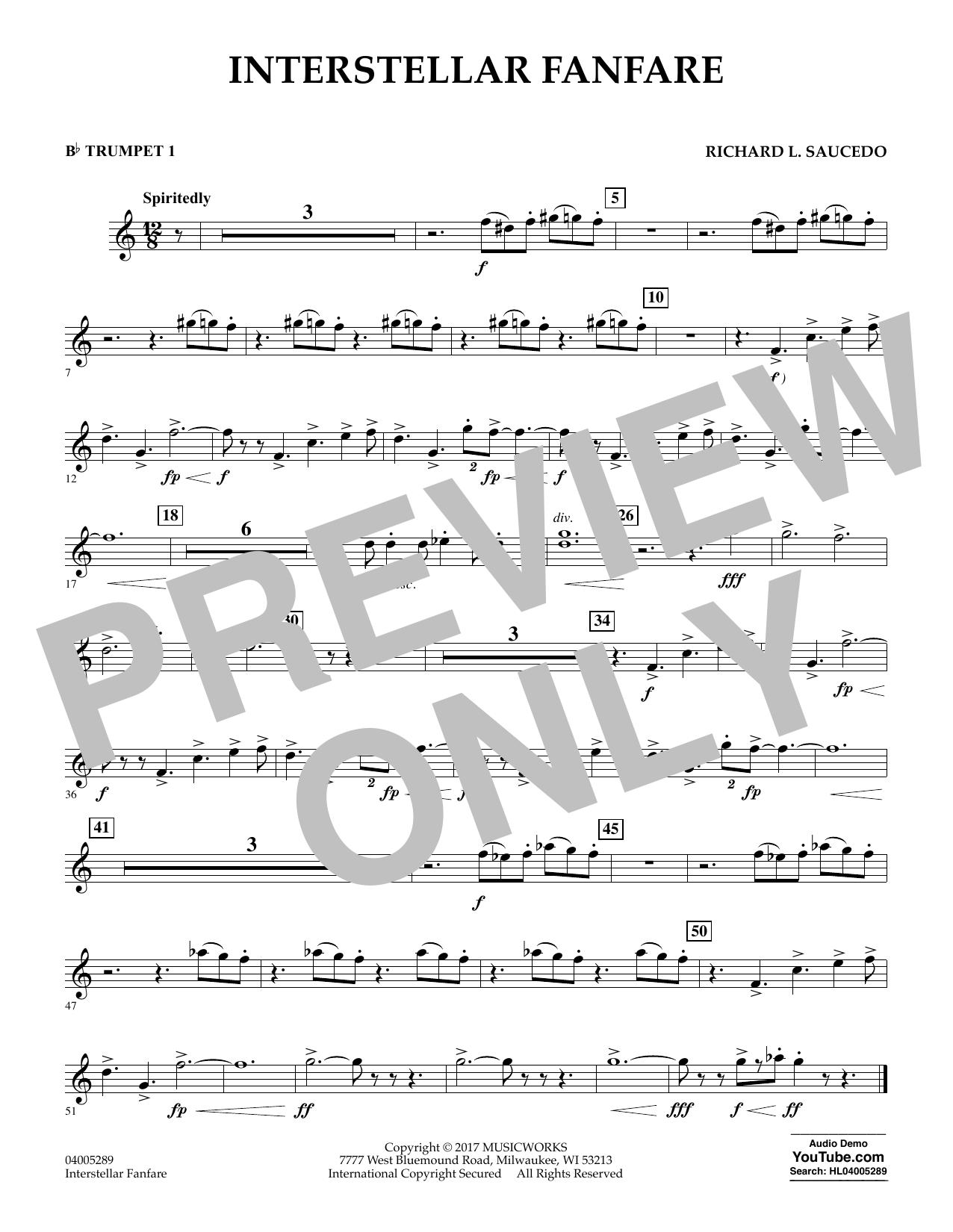 Interstellar Fanfare - Bb Trumpet 1 (Concert Band)