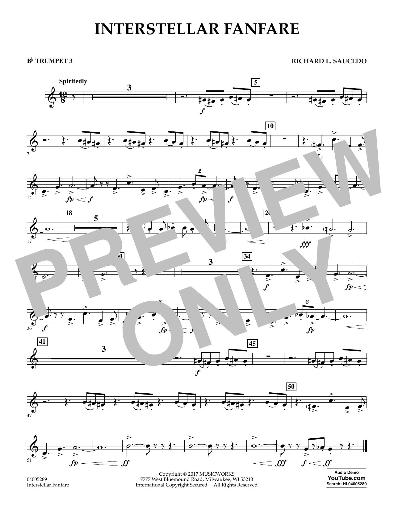 Interstellar Fanfare - Bb Trumpet 3 (Concert Band)