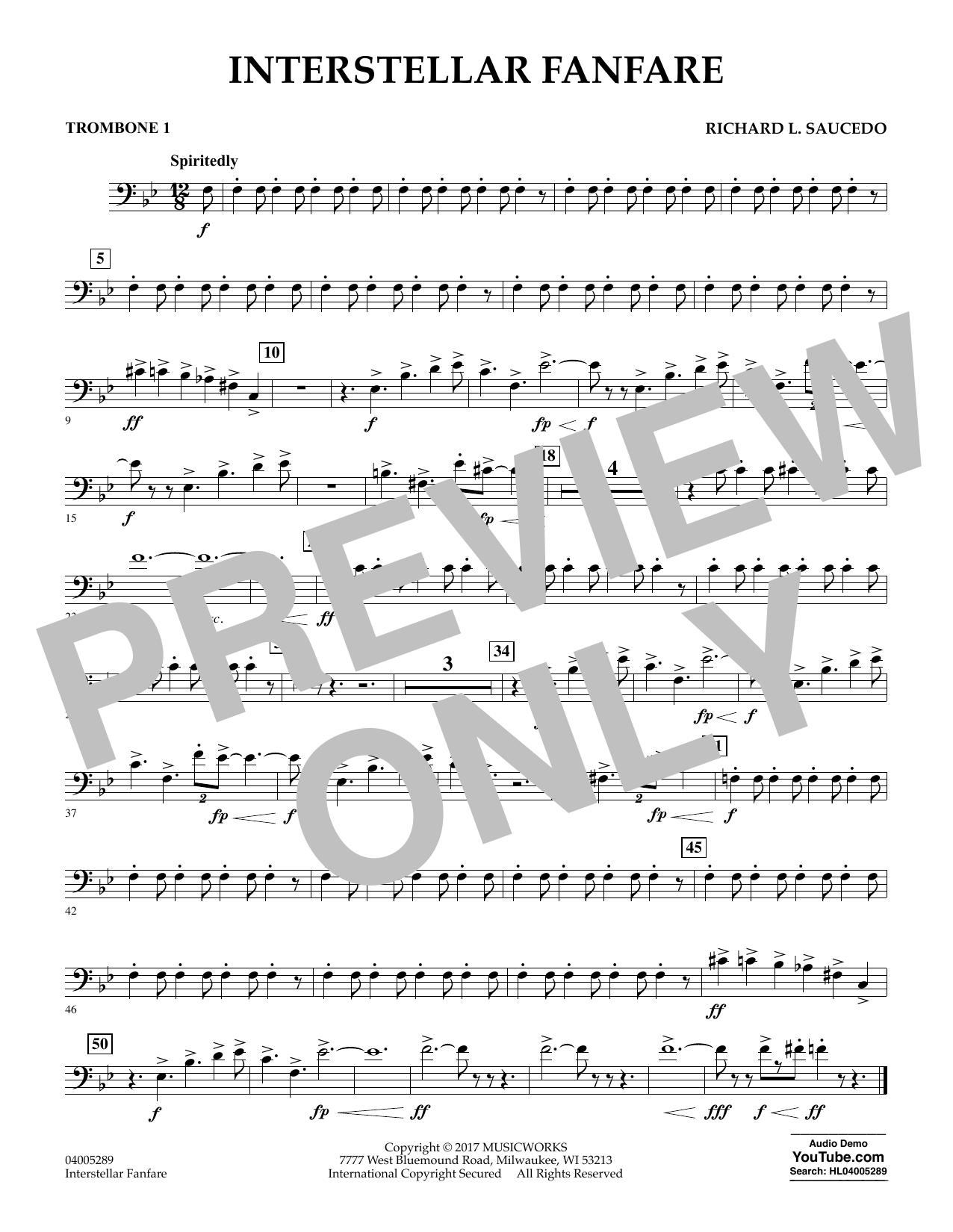 Interstellar Fanfare - Trombone 1 (Concert Band)