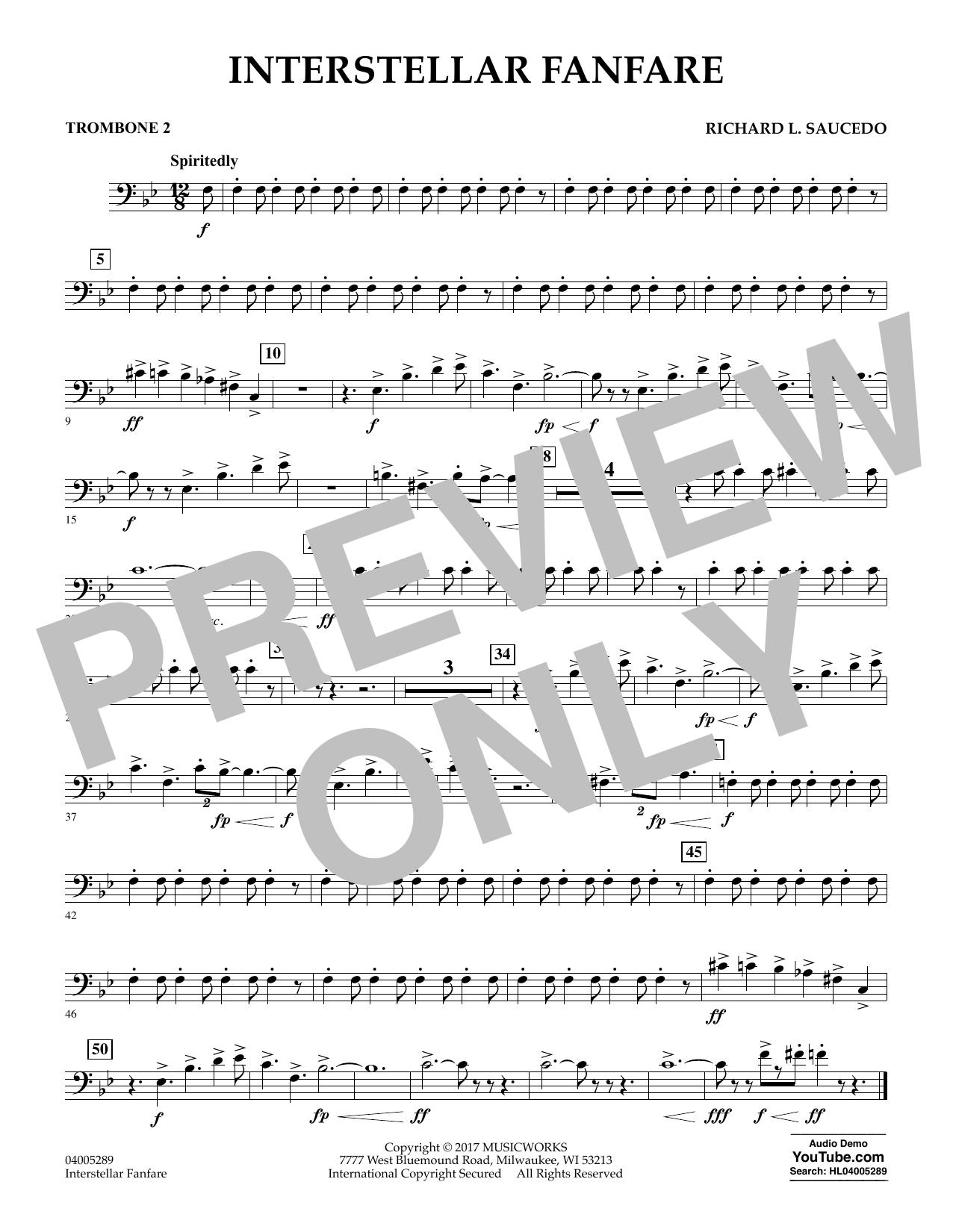 Interstellar Fanfare - Trombone 2 (Concert Band)