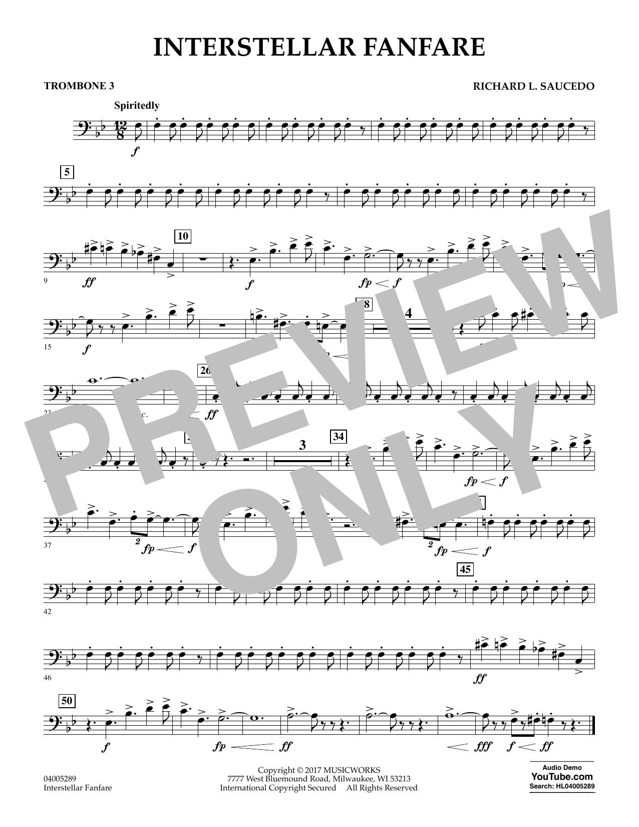 Interstellar Fanfare - Trombone 3 (Concert Band)
