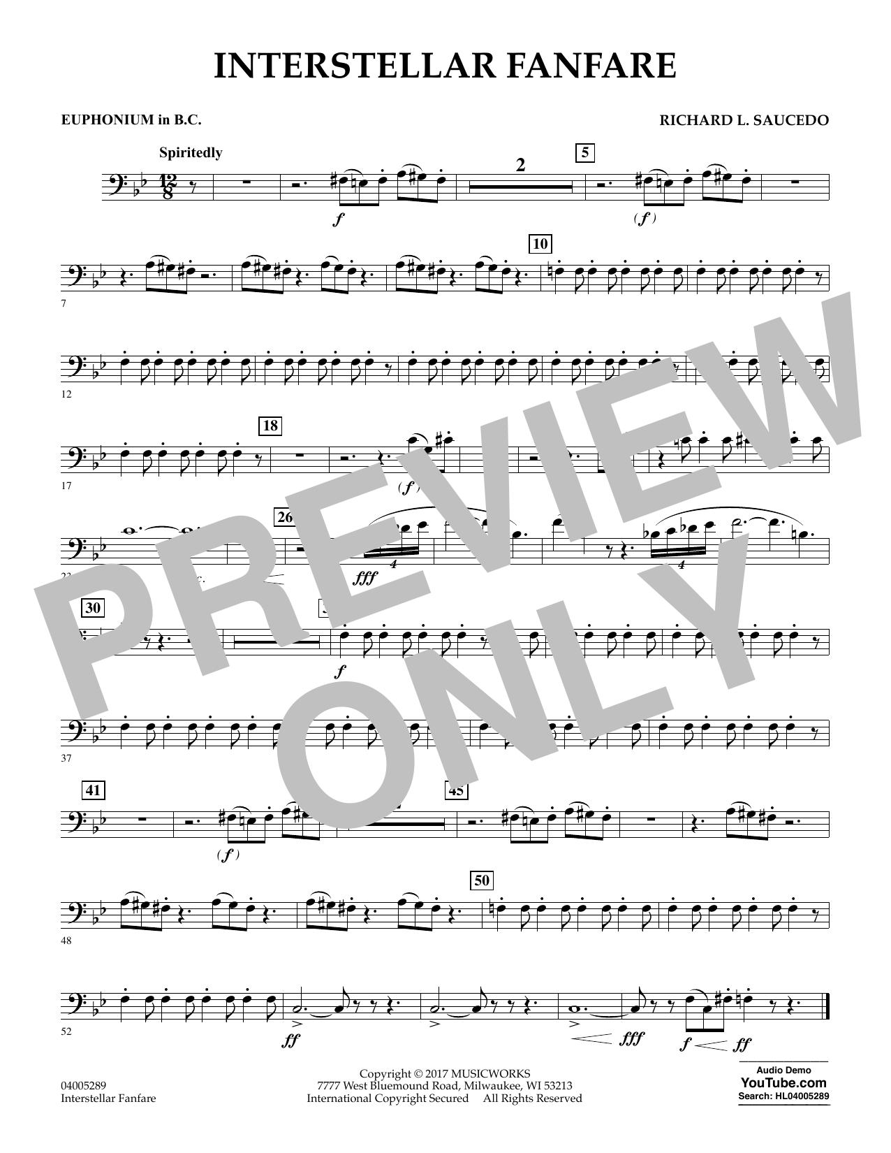Interstellar Fanfare - Euphonium in Bass Clef (Concert Band)