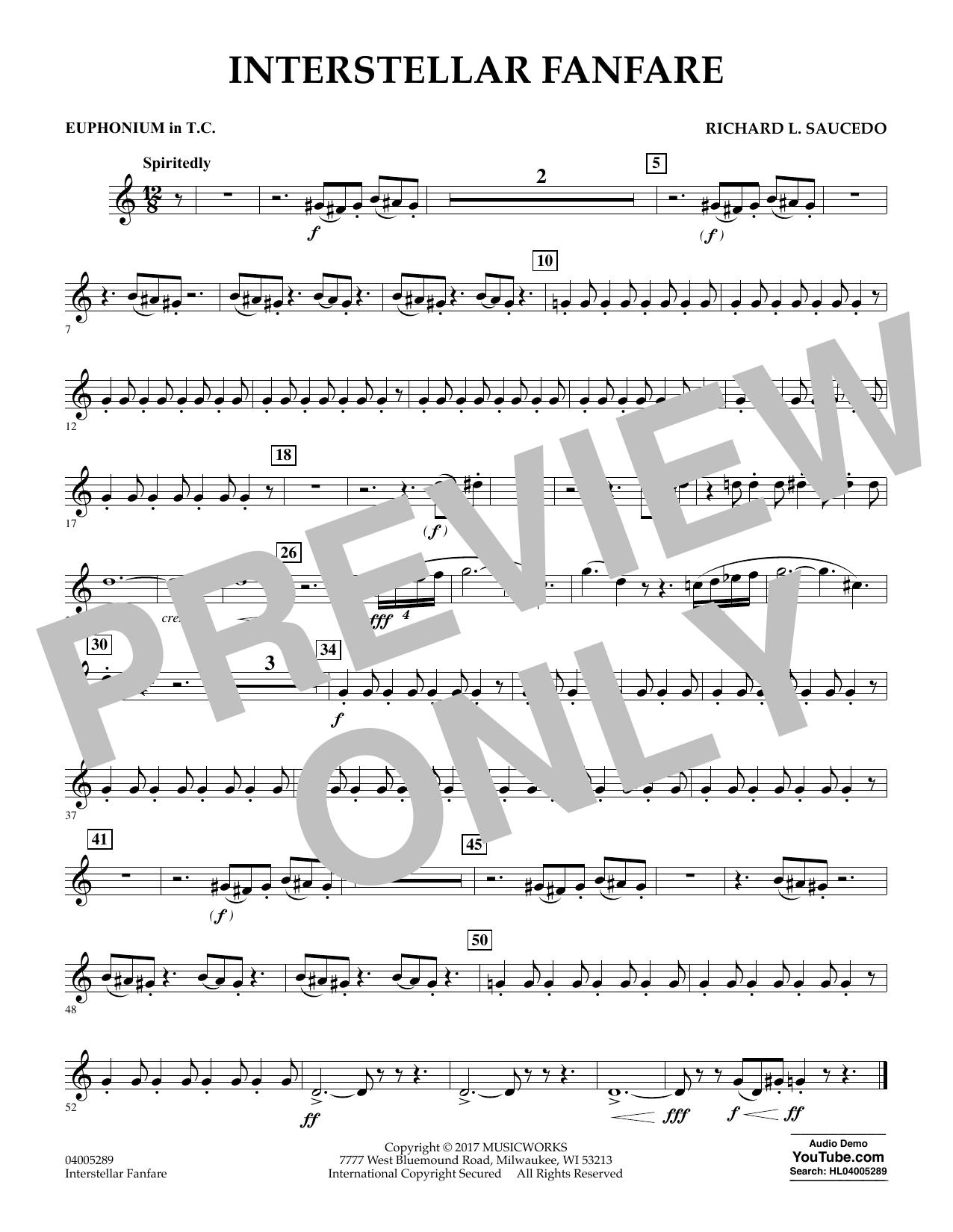 Interstellar Fanfare - Euphonium in Treble Clef (Concert Band)