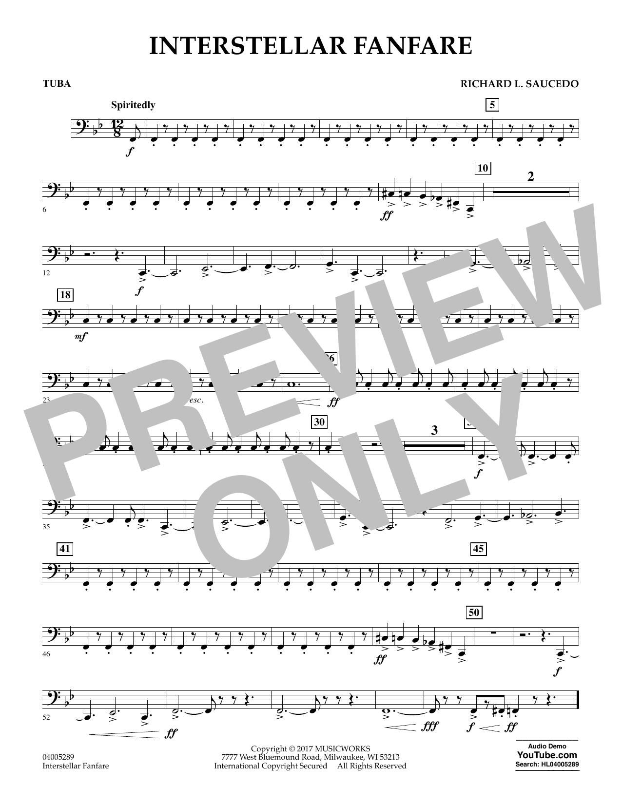 Interstellar Fanfare - Tuba (Concert Band)