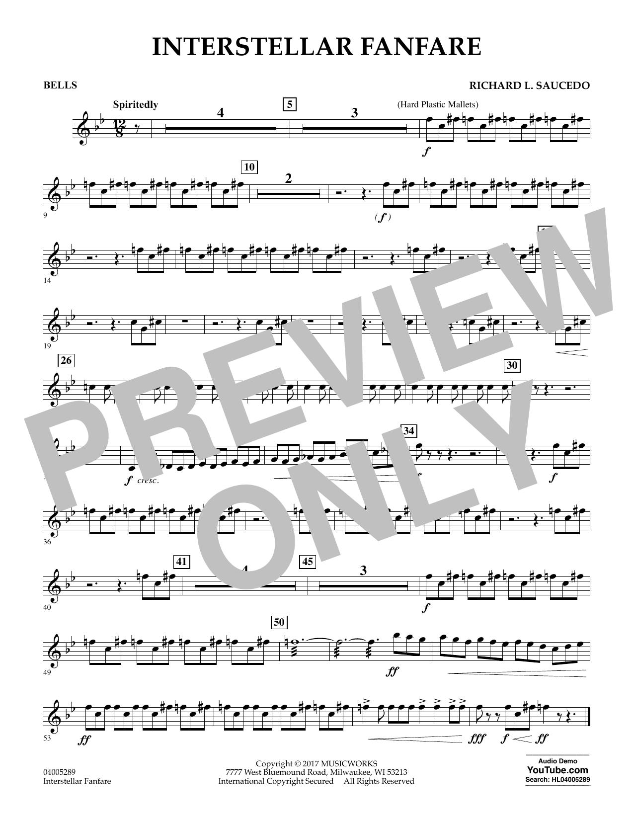 Interstellar Fanfare - Bells (Concert Band)