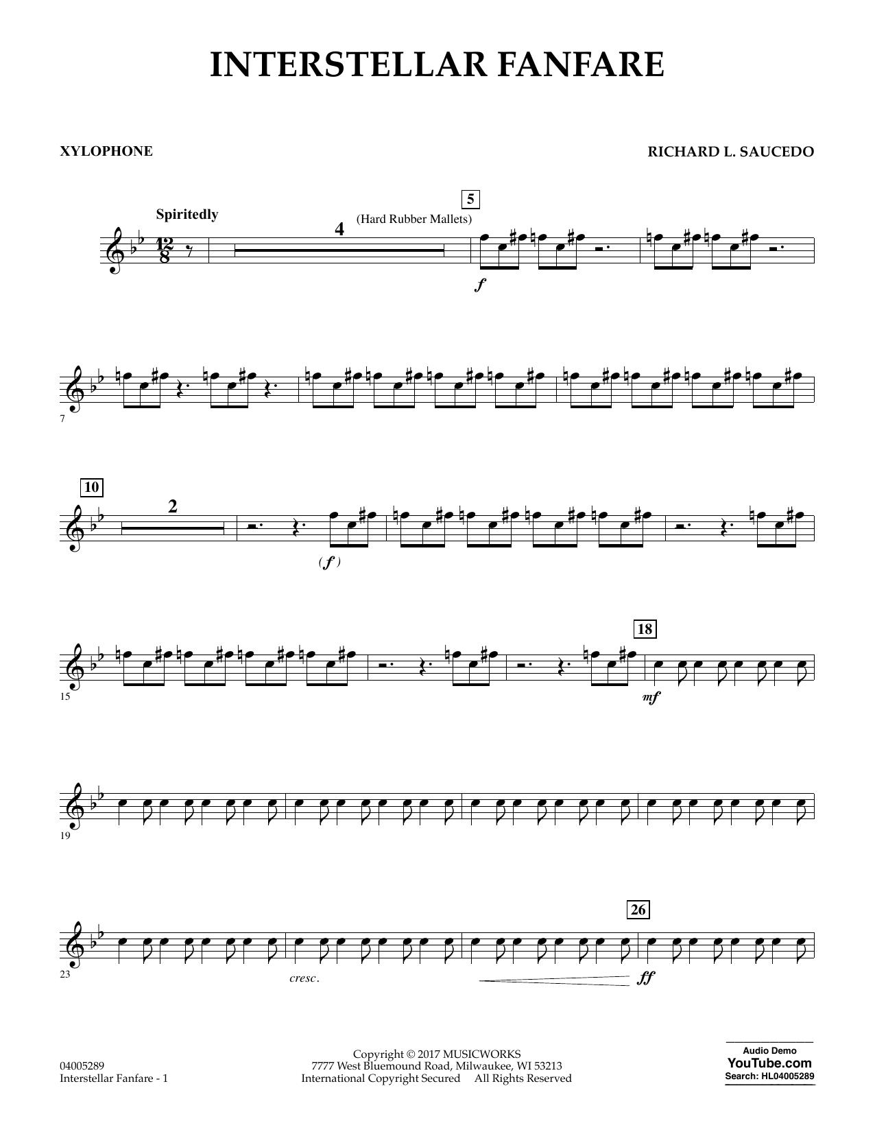 Interstellar Fanfare - Xylophone (Concert Band)