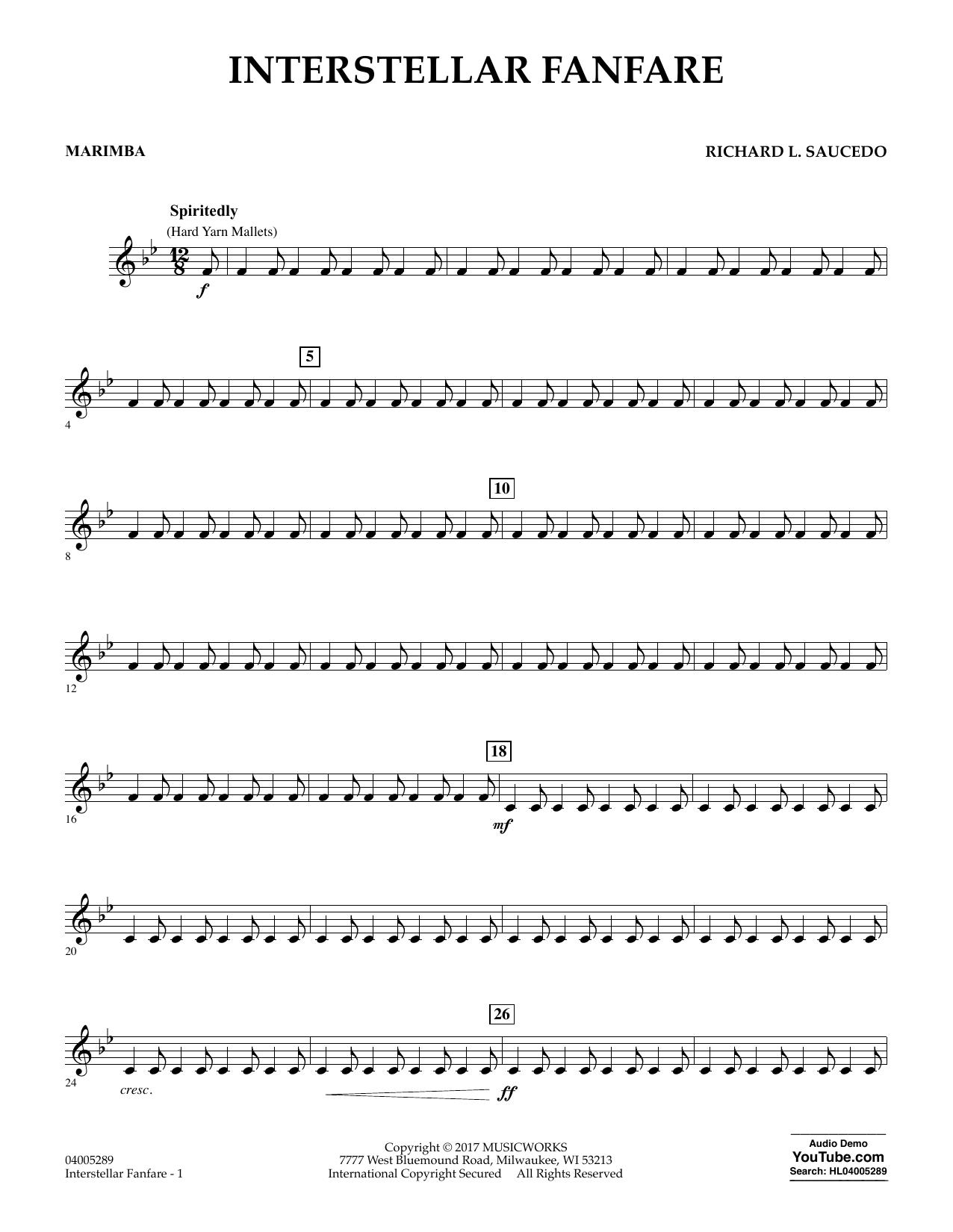 Interstellar Fanfare - Marimba (Concert Band)