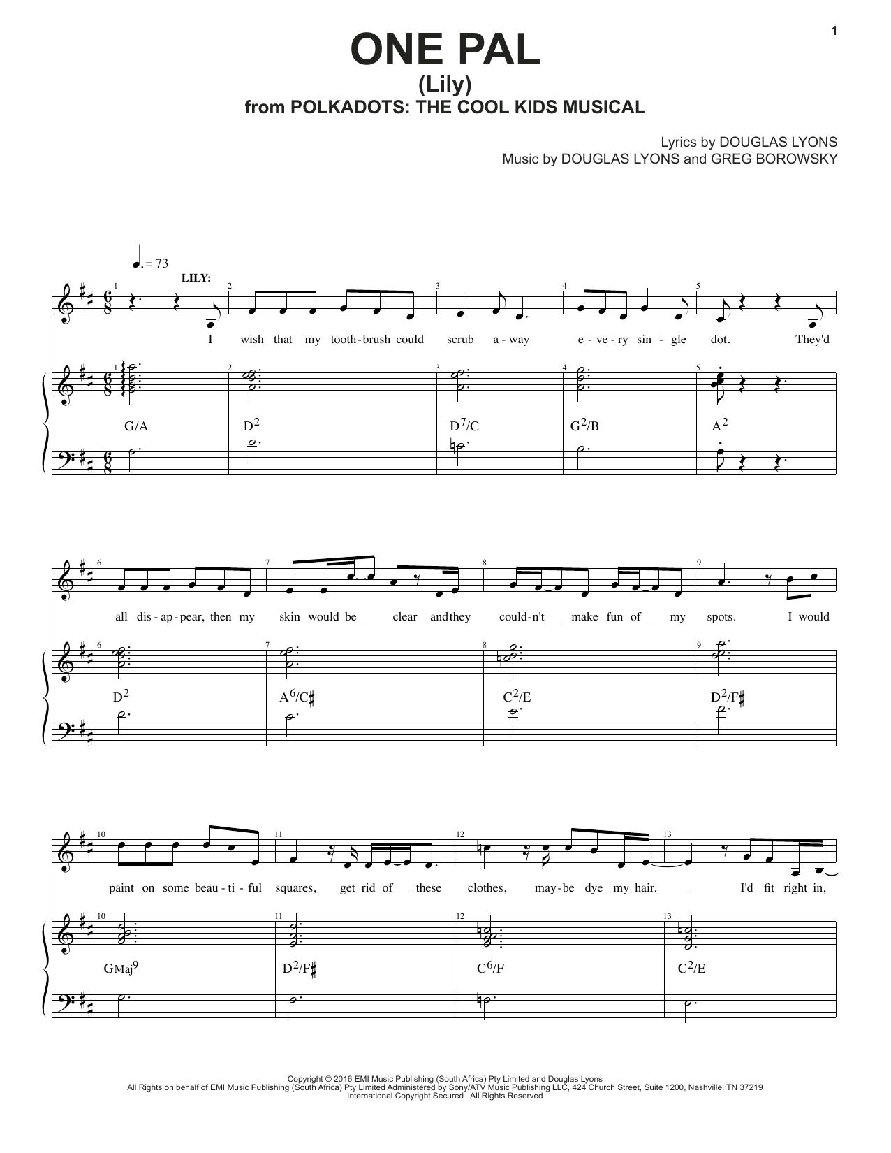 One Pal Sheet Music