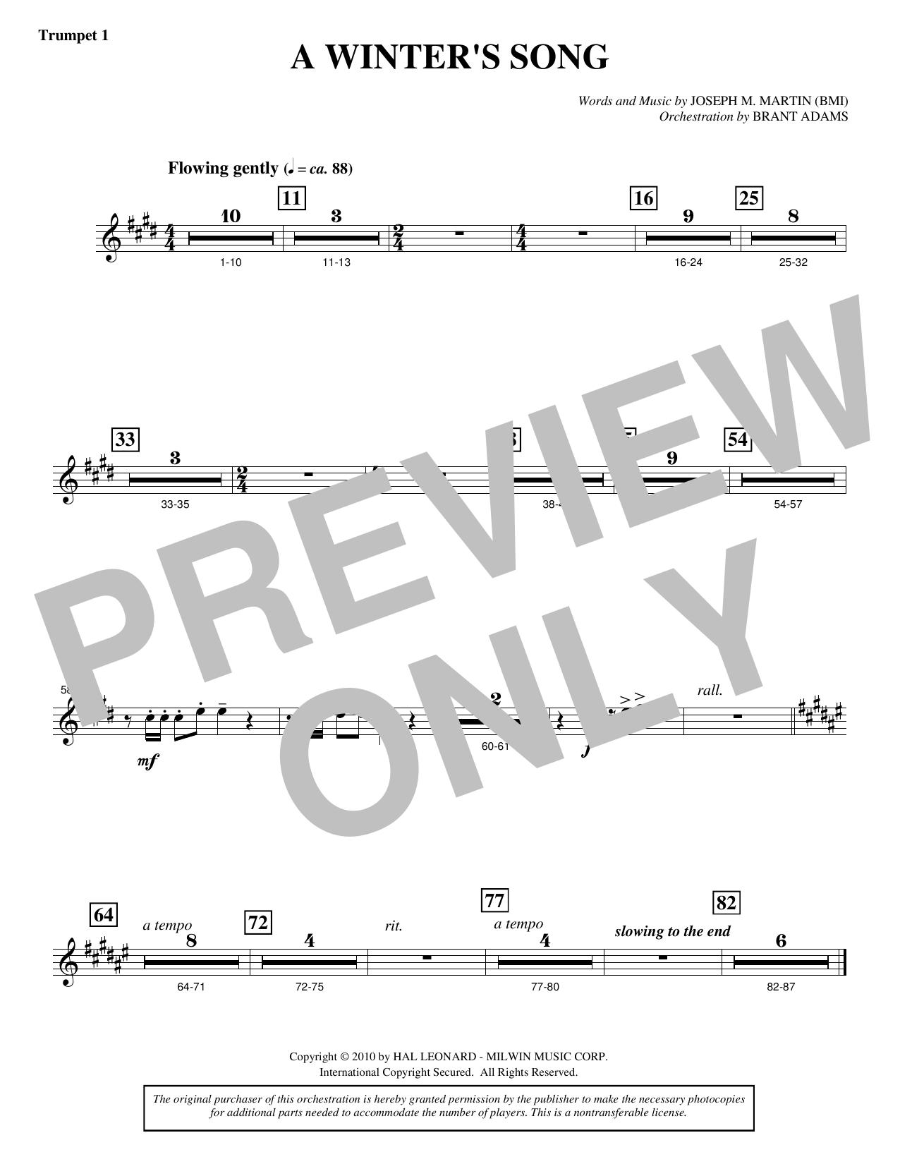 A Winter's Song (from Winter's Grace) - Bb Trumpet 1 Sheet Music