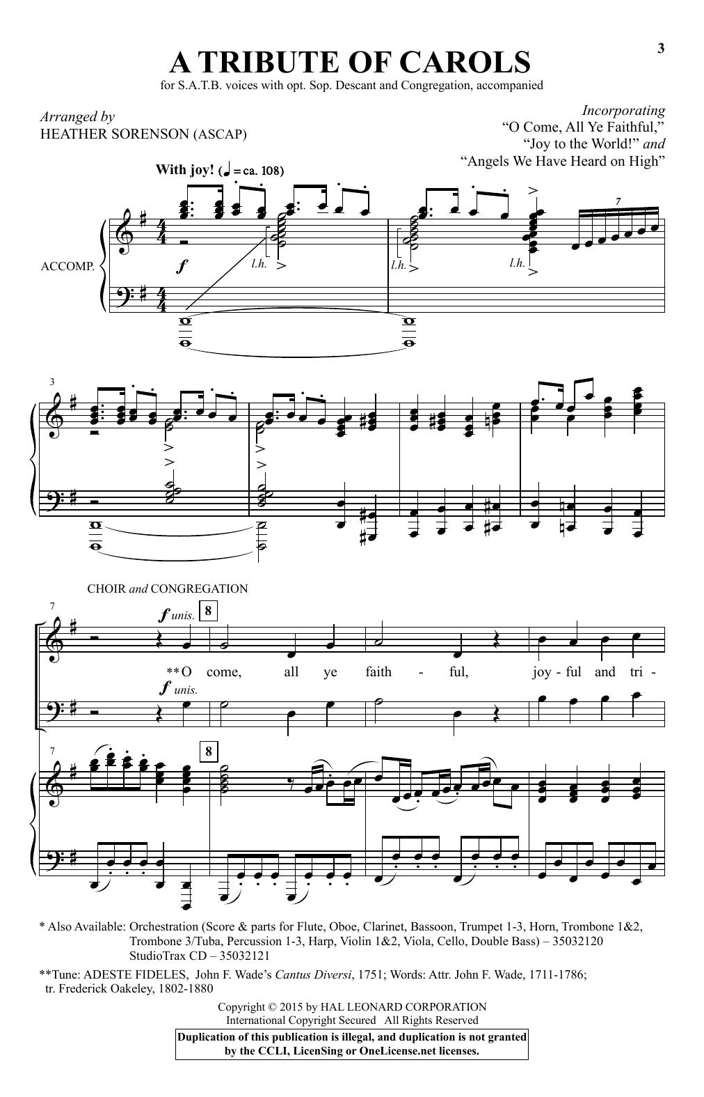 A Tribute Of Carols Sheet Music