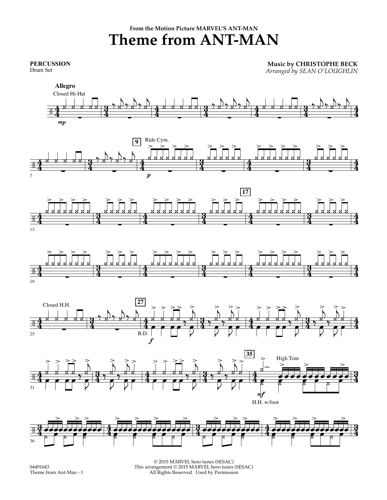 Theme from Ant-Man - Percussion (Orchestra)