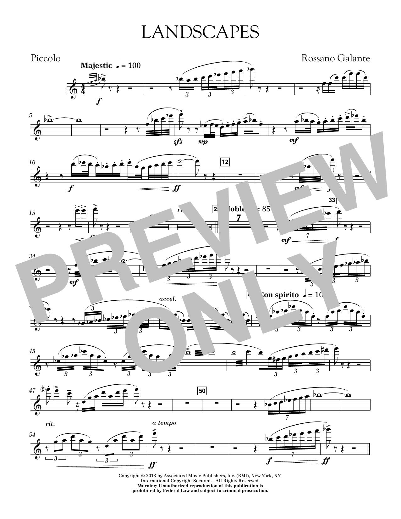 Landscapes - Piccolo (Concert Band)