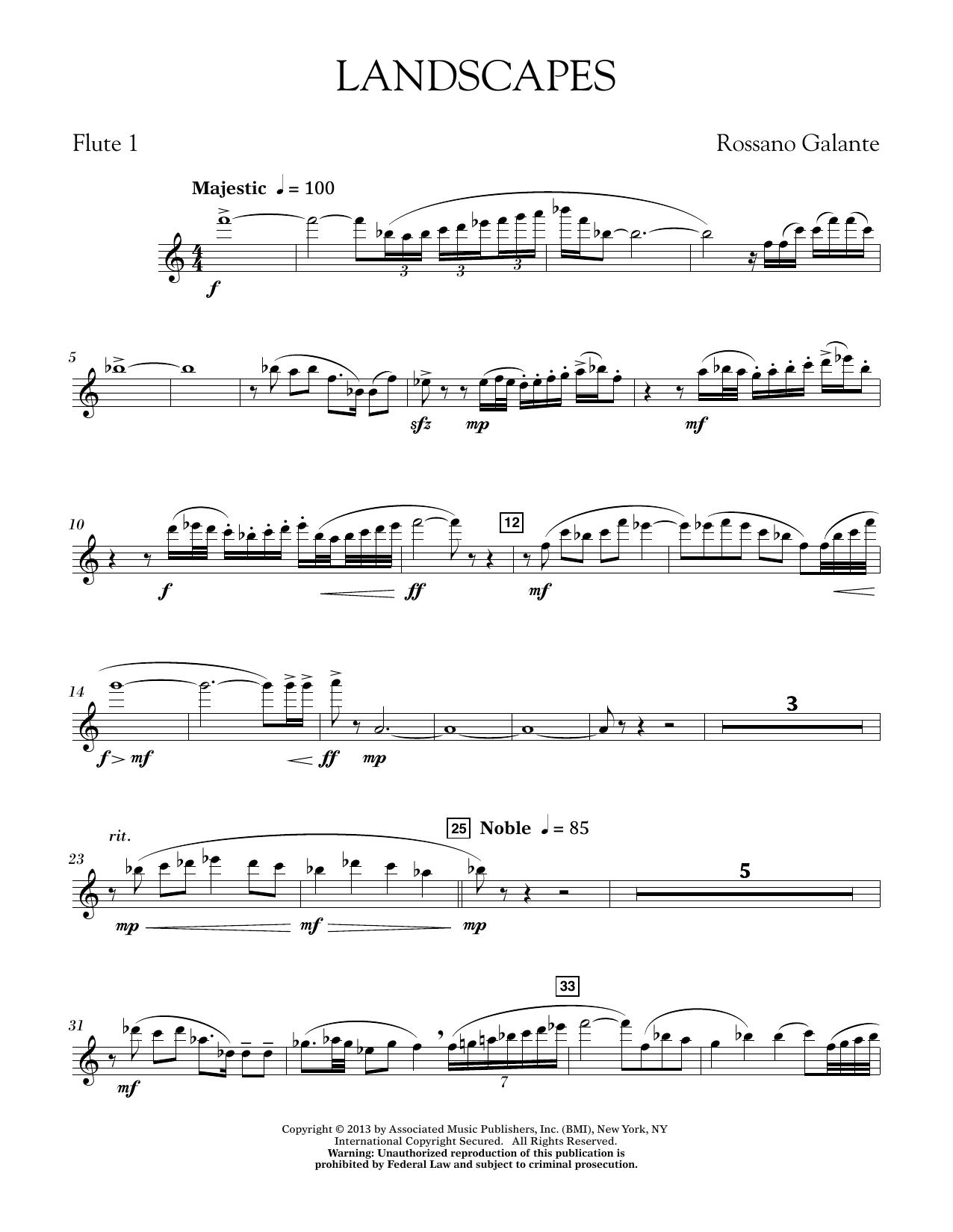 Landscapes - Flute 1 (Concert Band)