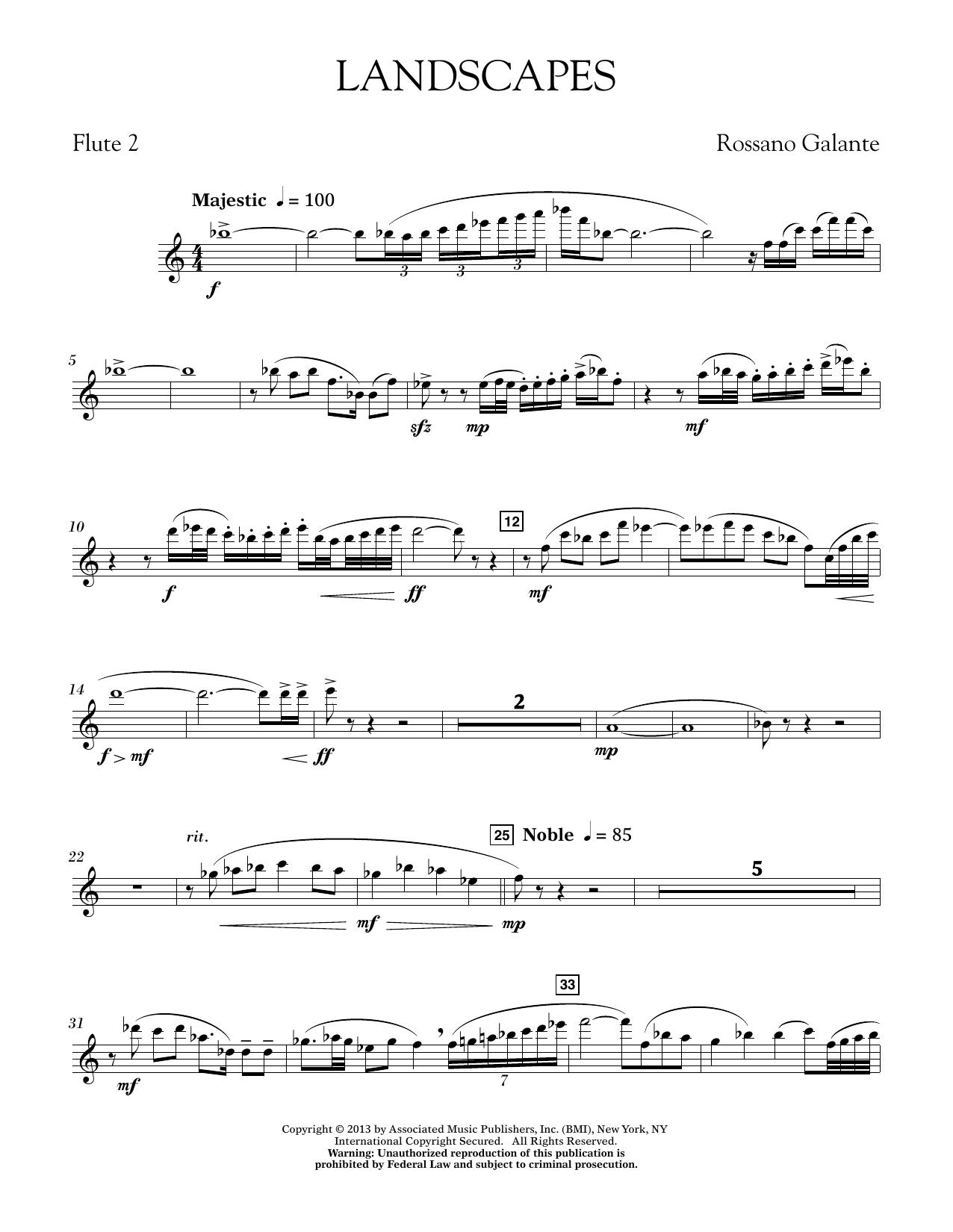 Landscapes - Flute 2 (Concert Band)