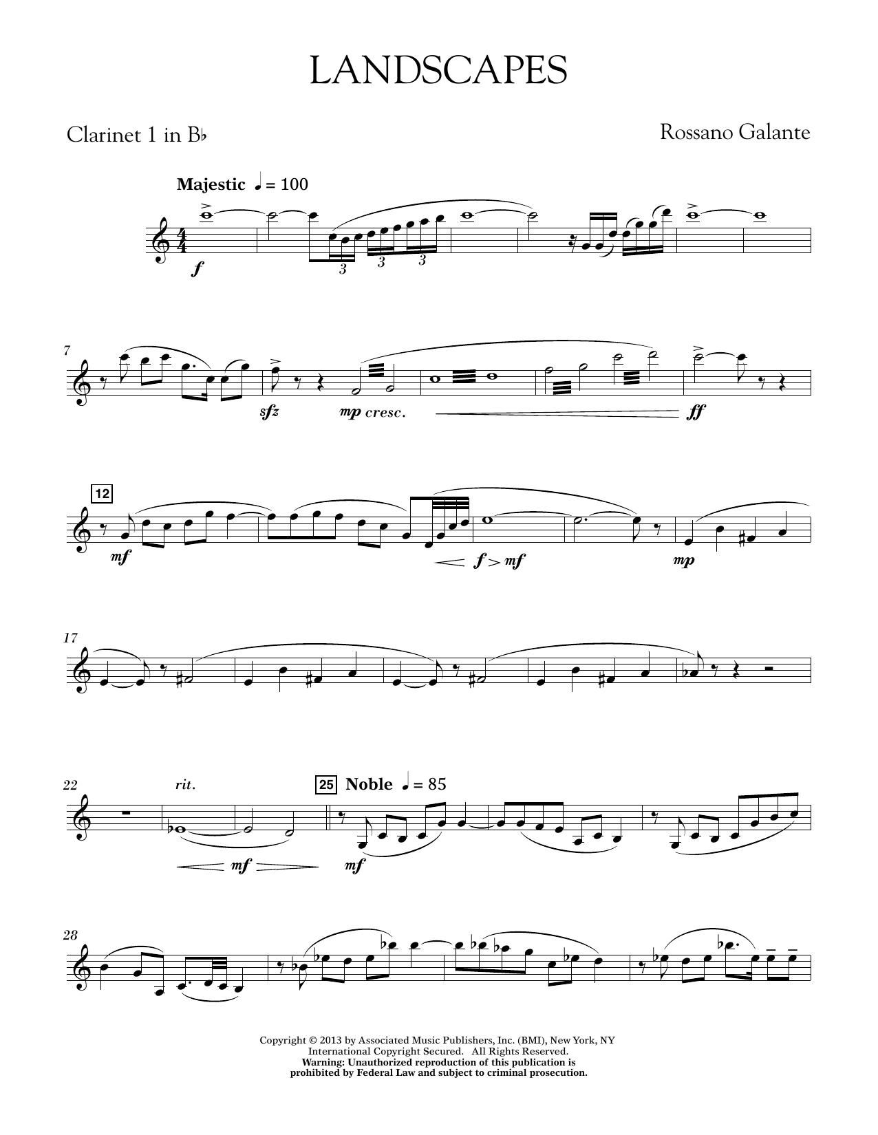 Landscapes - Bb Clarinet 1 (Concert Band)