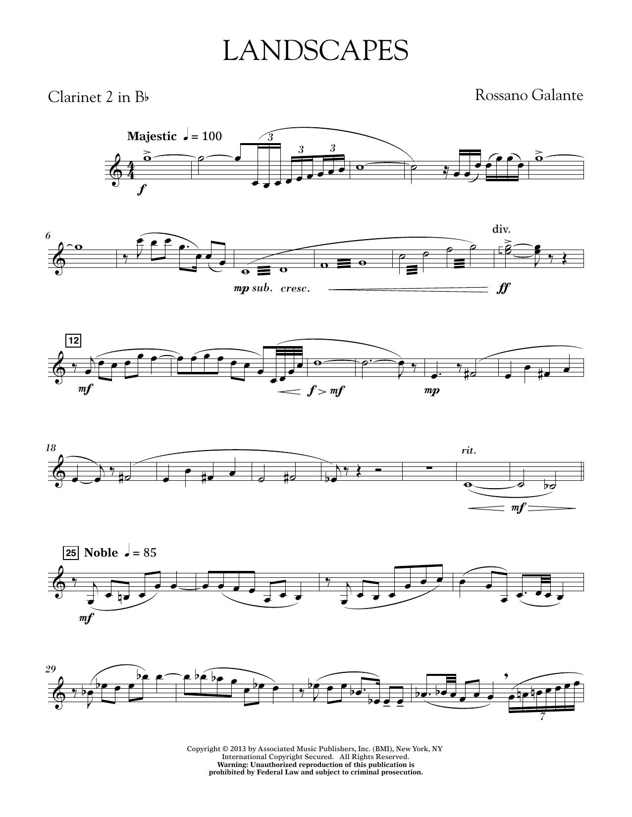 Landscapes - Bb Clarinet 2 (Concert Band)
