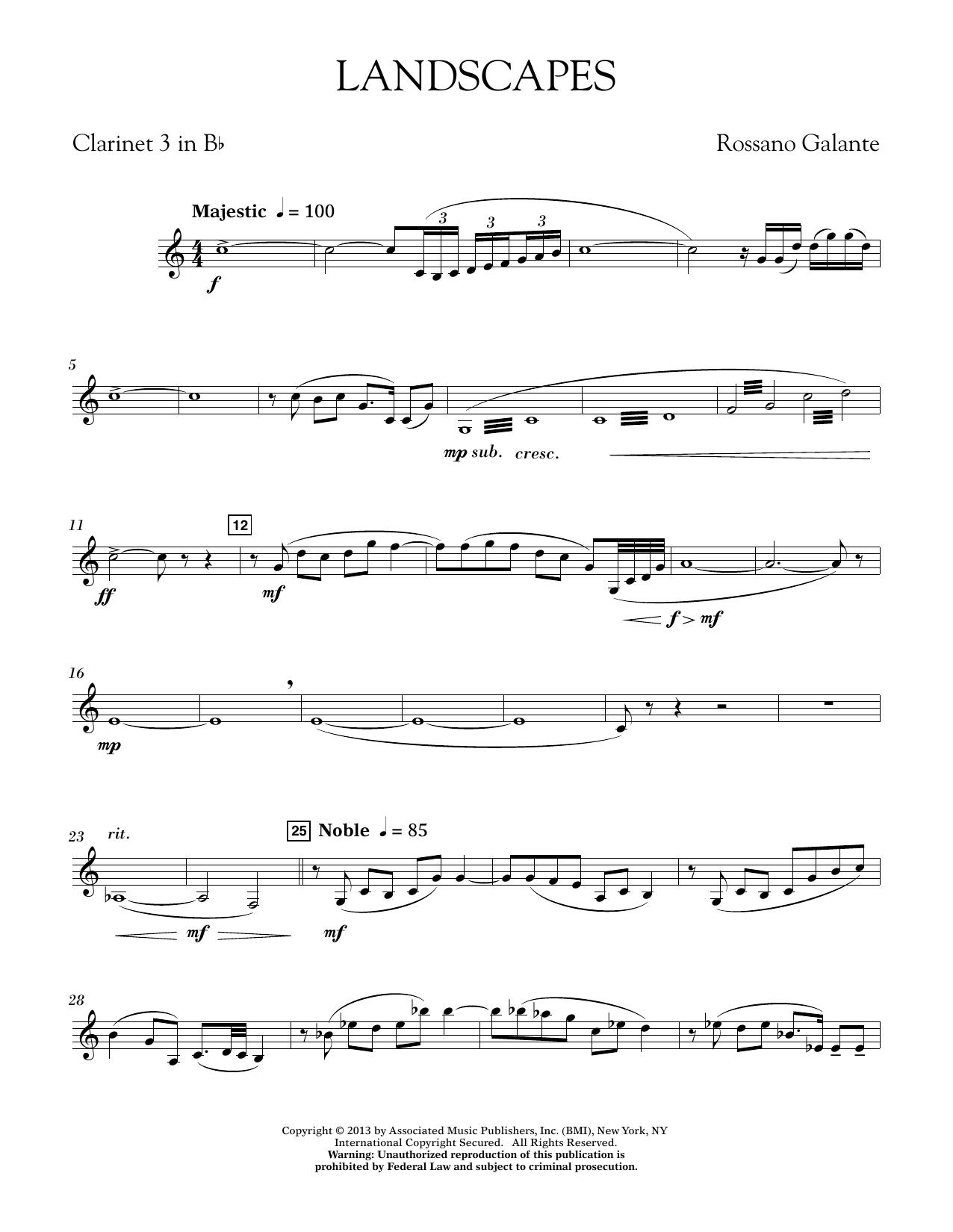 Landscapes - Bb Clarinet 3 (Concert Band)