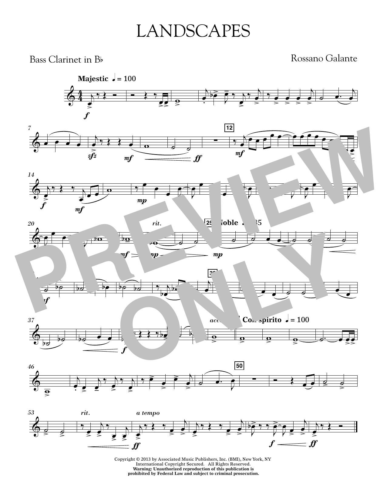 Landscapes - Bb Bass Clarinet (Concert Band)