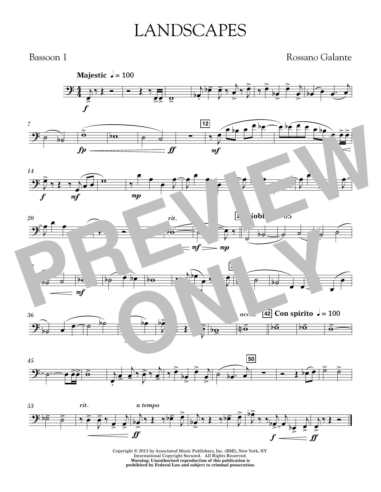 Landscapes - Bassoon 1 (Concert Band)