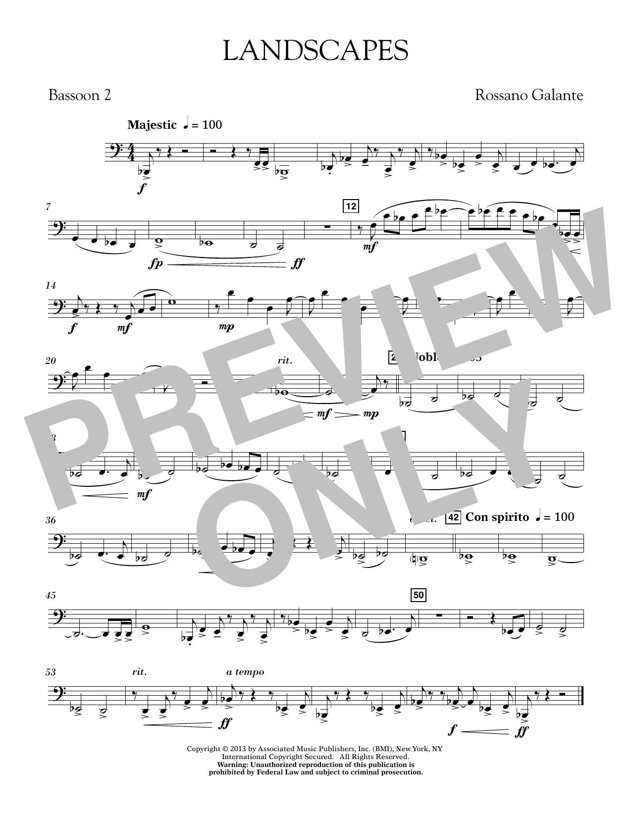 Landscapes - Bassoon 2 (Concert Band)