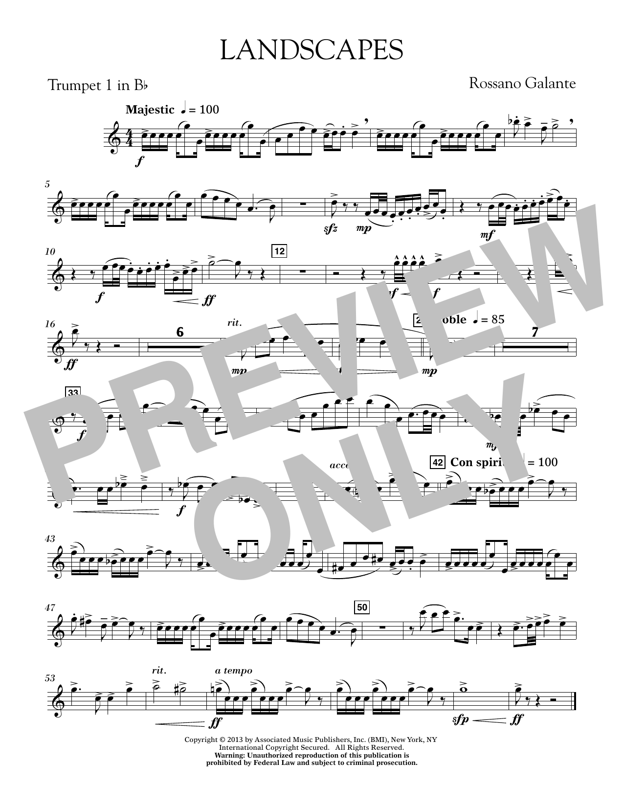 Landscapes - Bb Trumpet 1 (Concert Band)