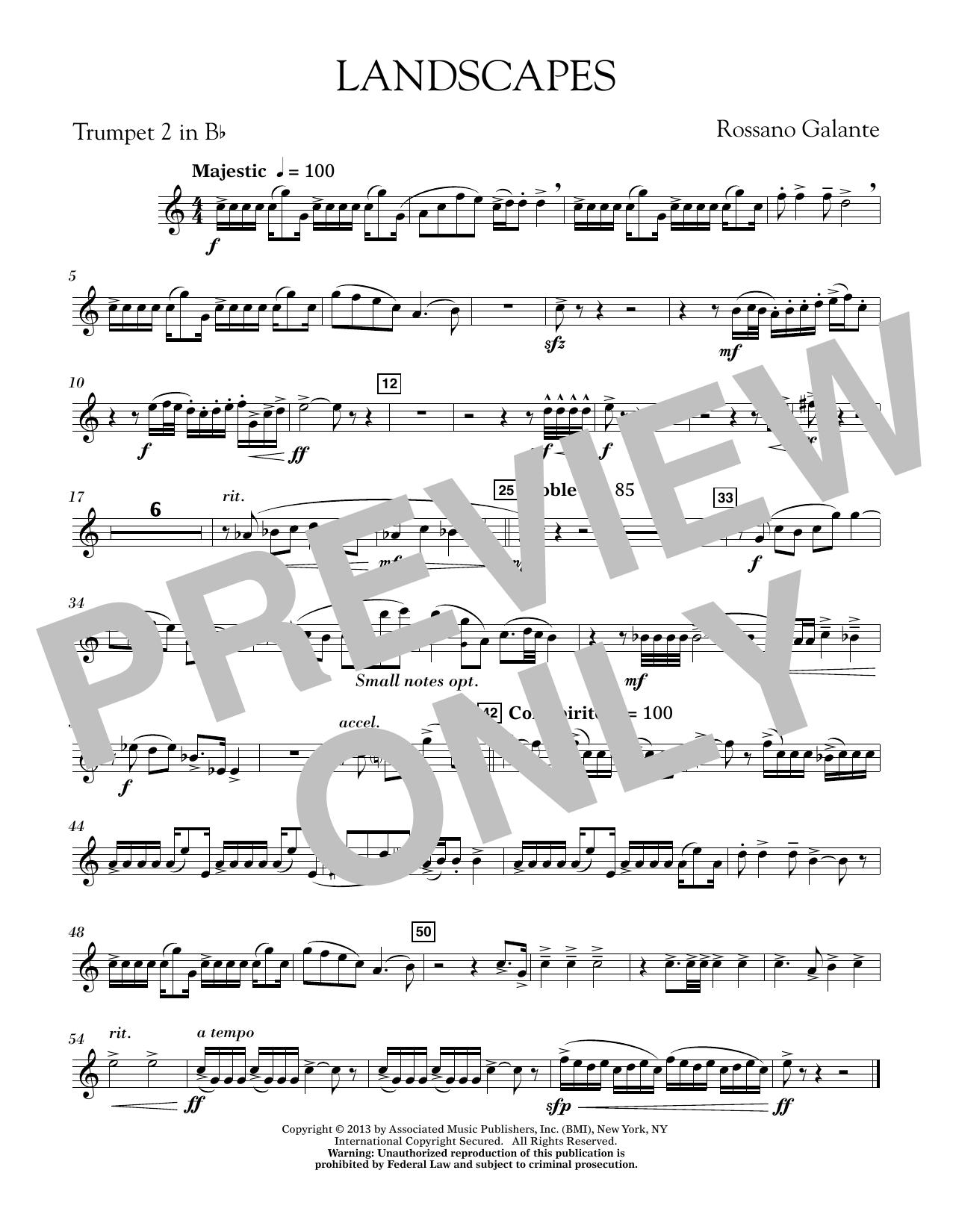 Landscapes - Bb Trumpet 2 (Concert Band)