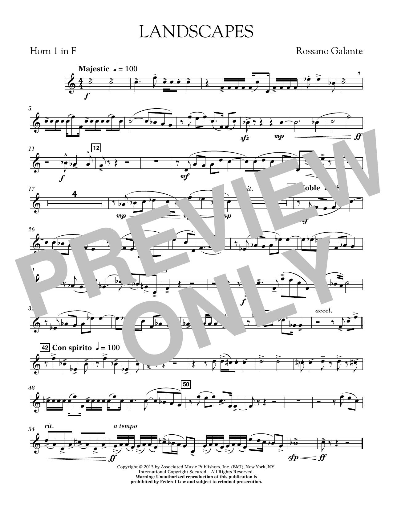 Landscapes - F Horn 1 (Concert Band)